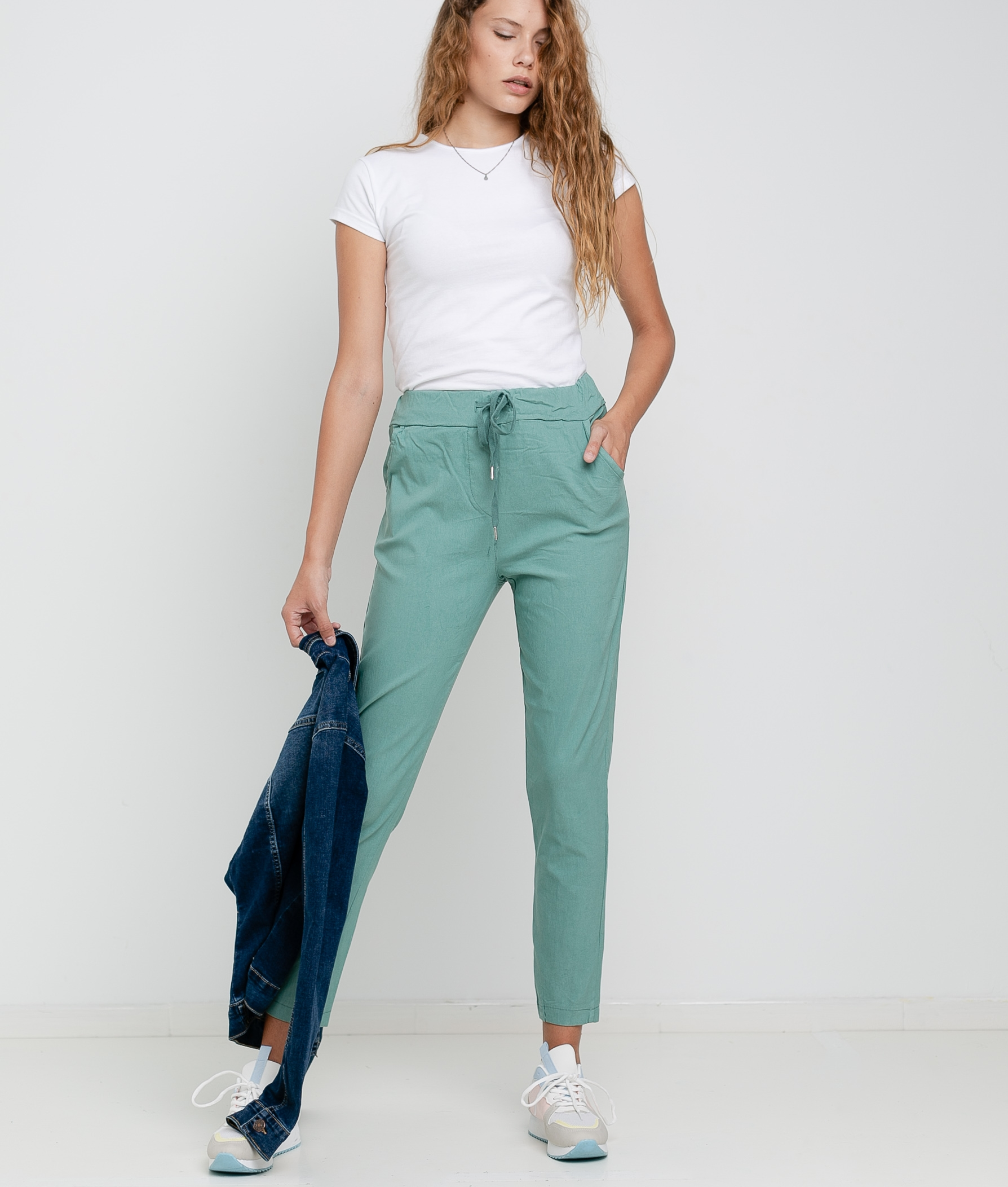 FLORA TROUSERS - GREEN