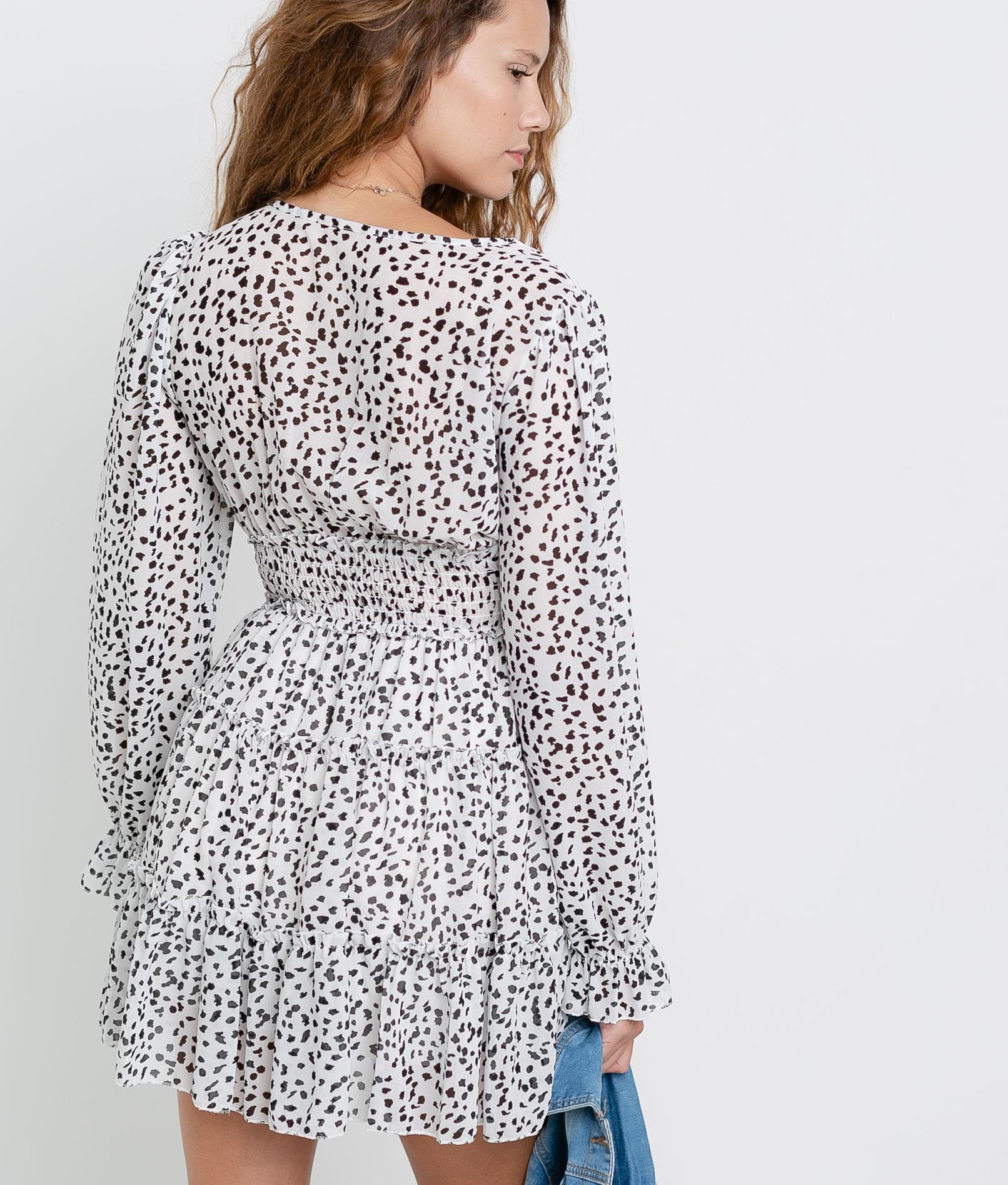 Dress Soger - White/Black