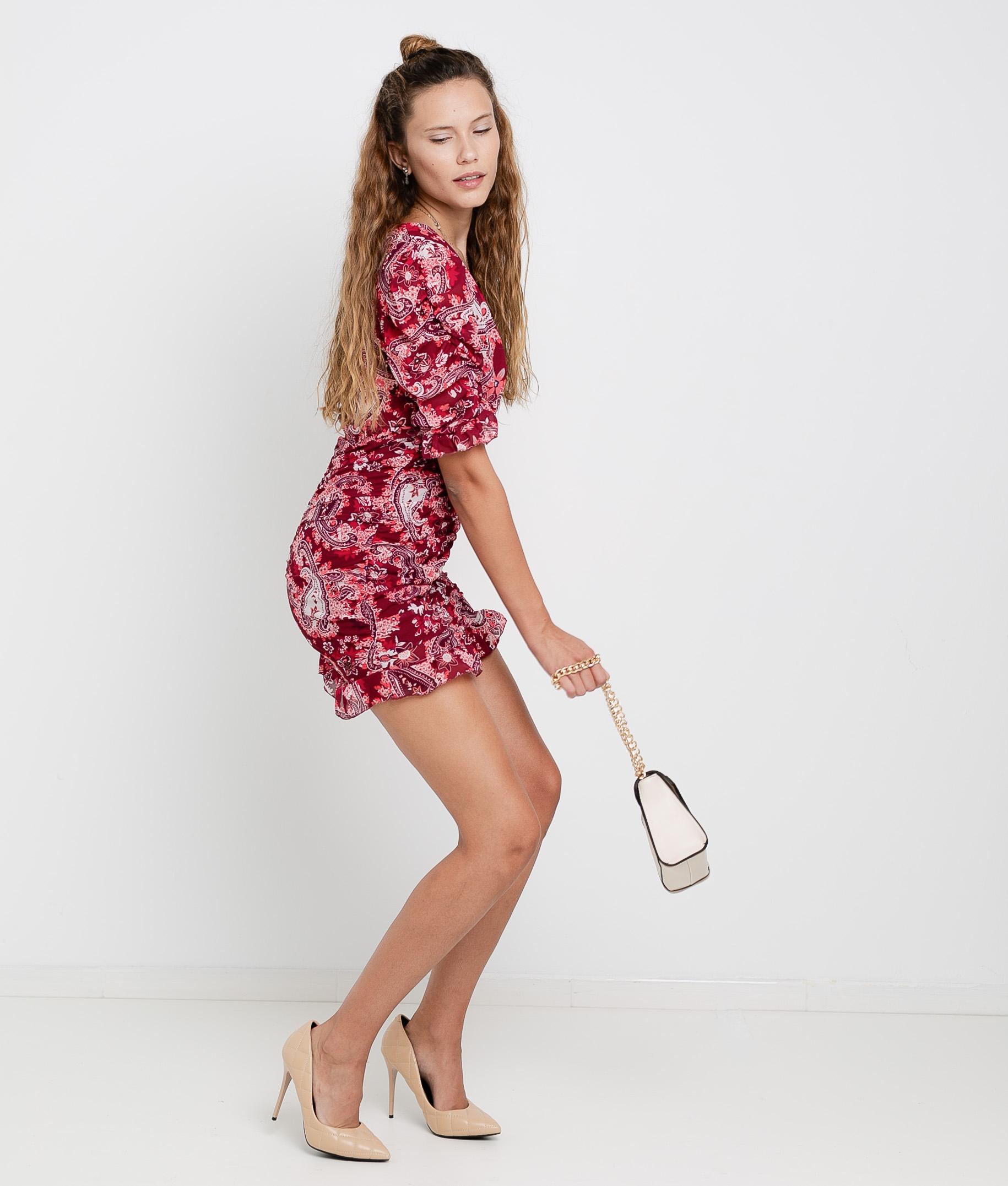 Dress Lavoe - Red/Maroon