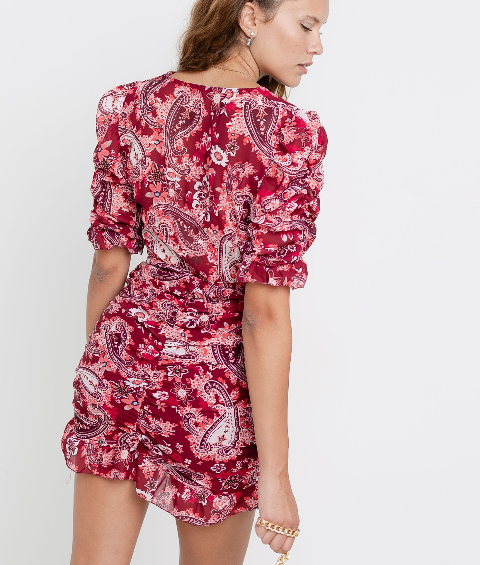 Vestido Lavoe - Rojo/Granate