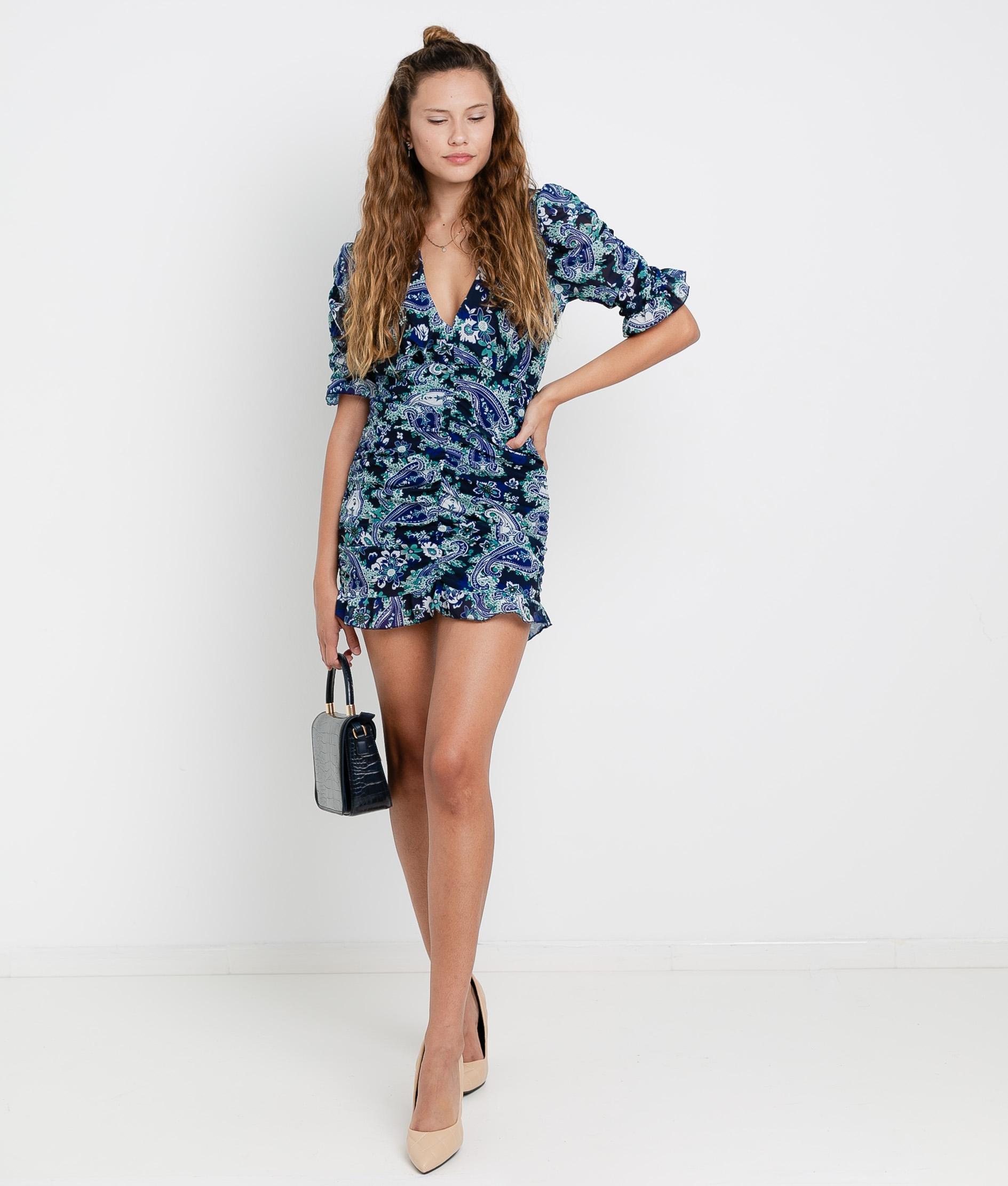 Vestido Lavoe - Preto/Azul