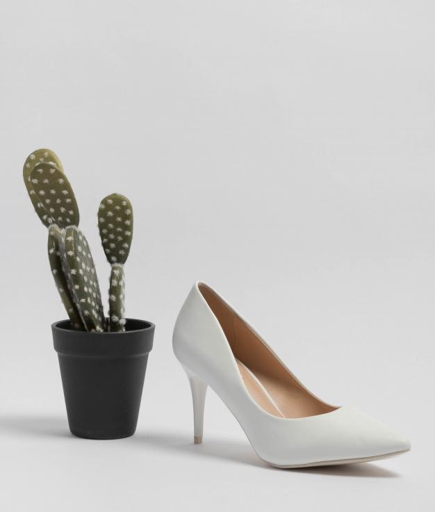 Heels Shoes Tilda - White
