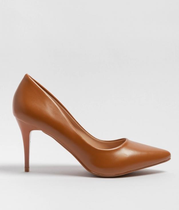 Sapato De Salto Tilda - Camelo