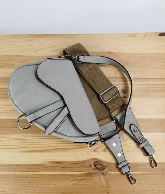 Bandolera Mari - gris