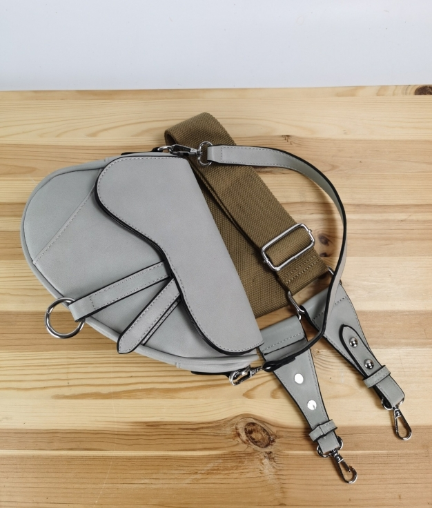 Bolsa de ombro Mari - cinzento