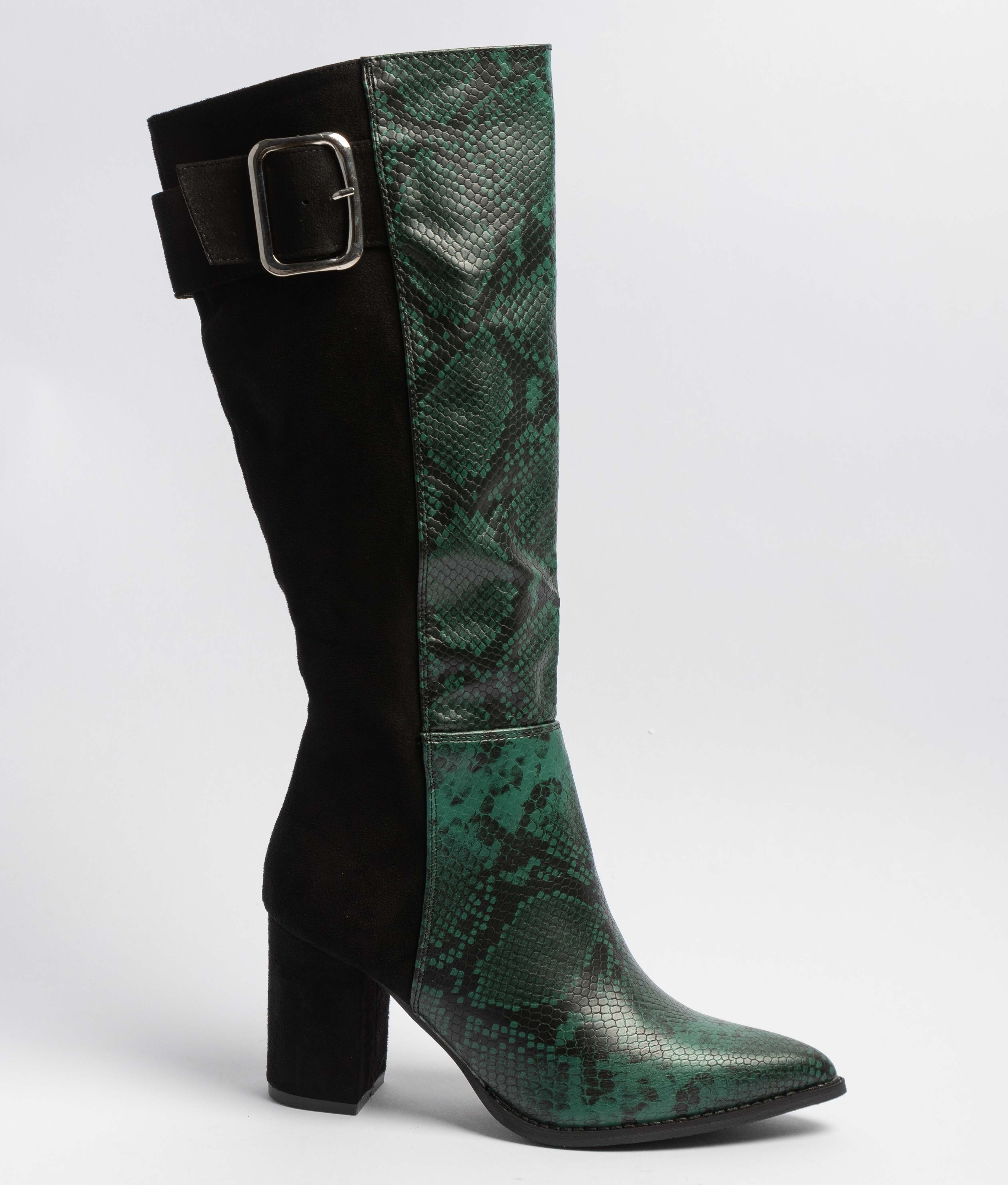Knee-Lenght Boot Remia - Green