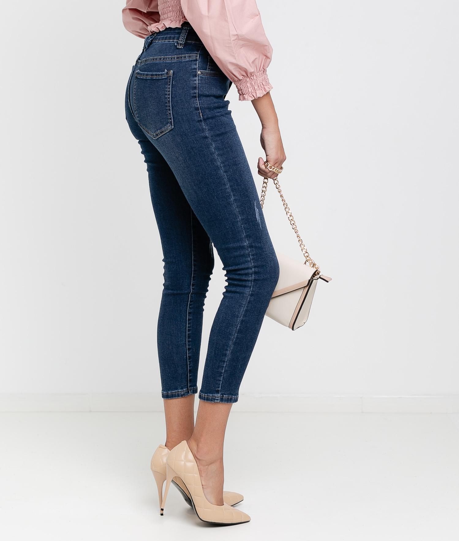 Pantaloni Leor - Denim Scuro