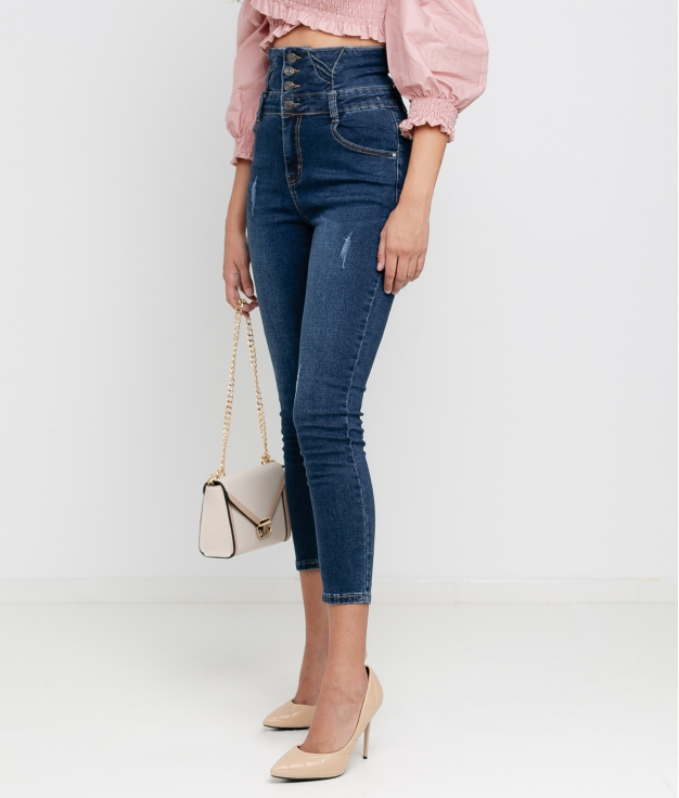 Pantaloni Leor - Denim Scuro