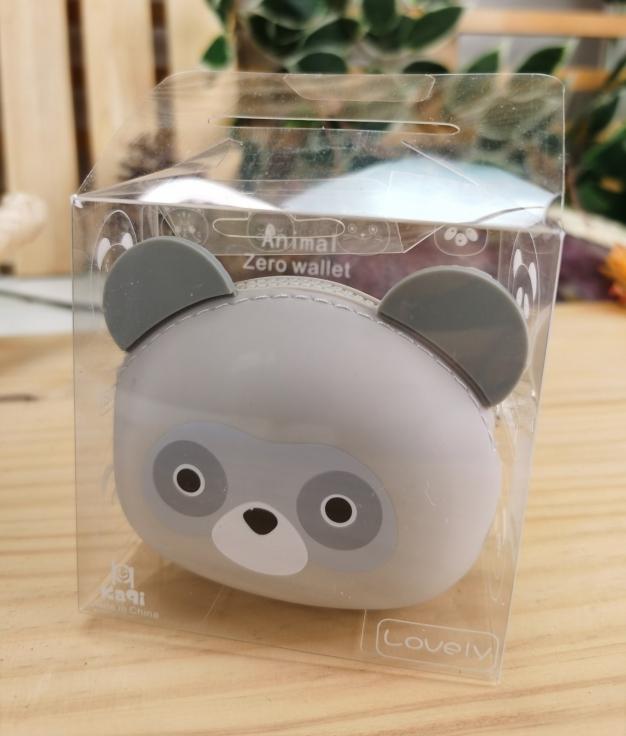 Monedero de silicona animal oso - gris