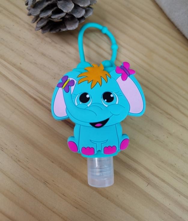 Porta desinfectante de silicona Fila - elefante bleu