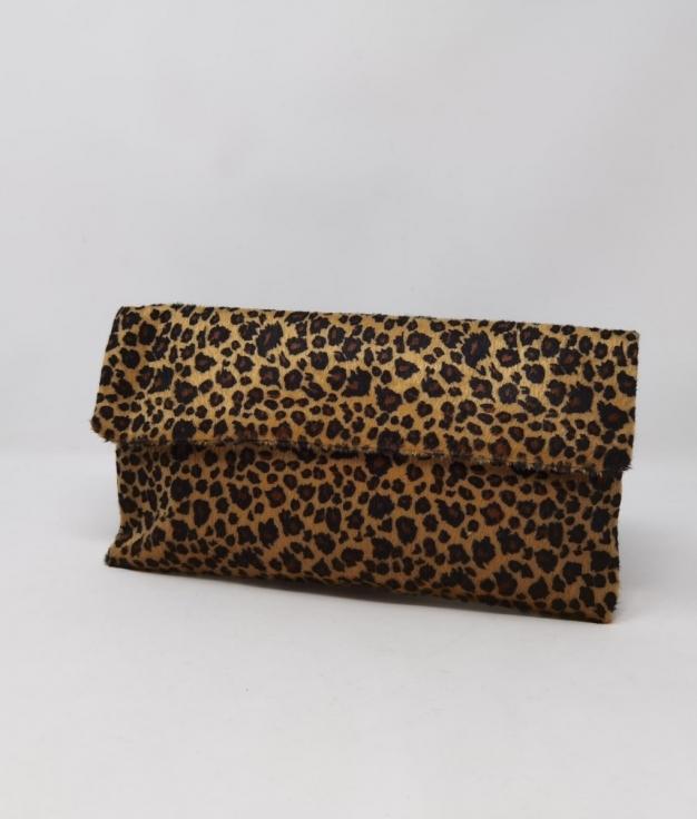 cartera de mano kiko - leopardo