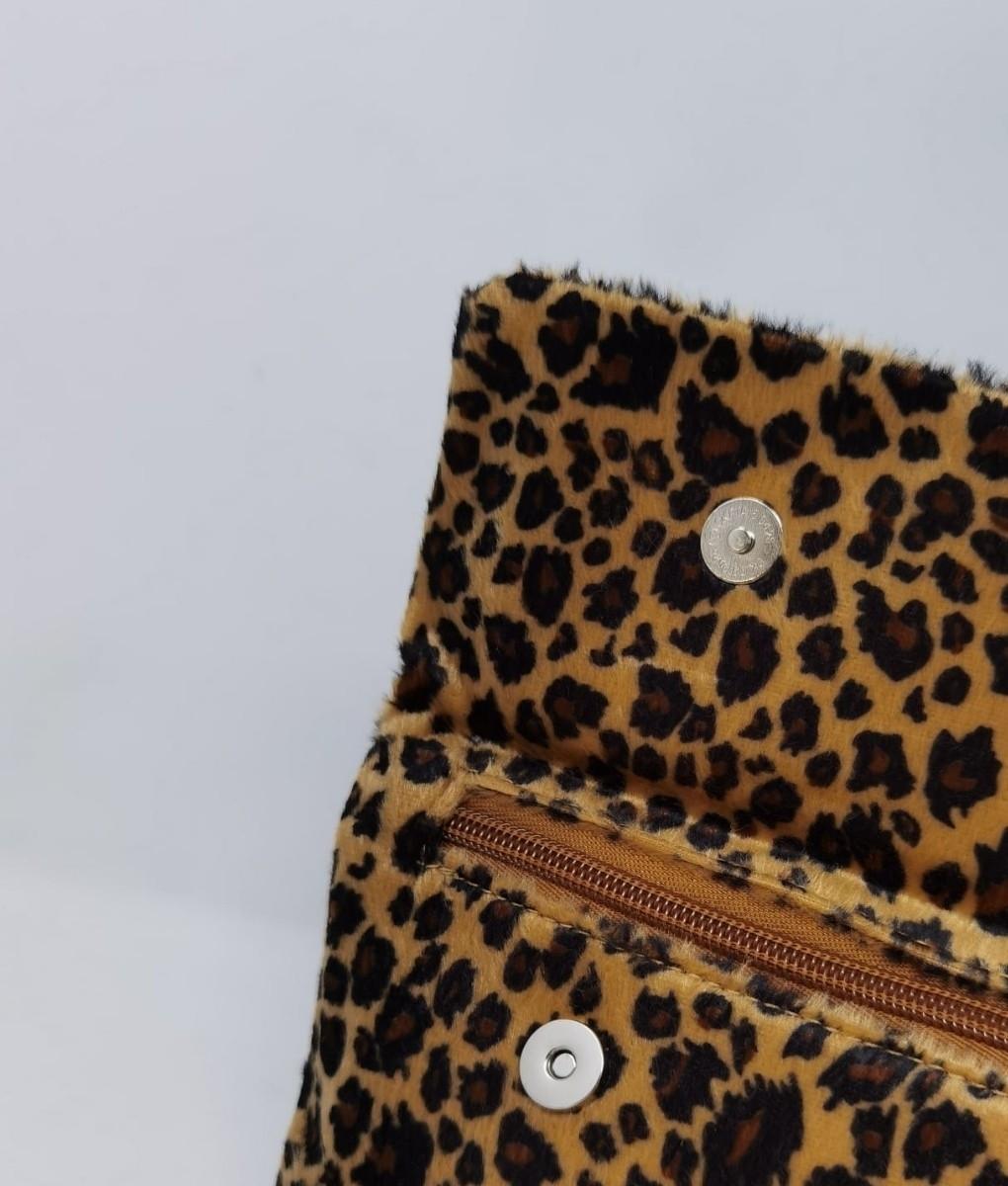 embreagem de leopardo kiko
