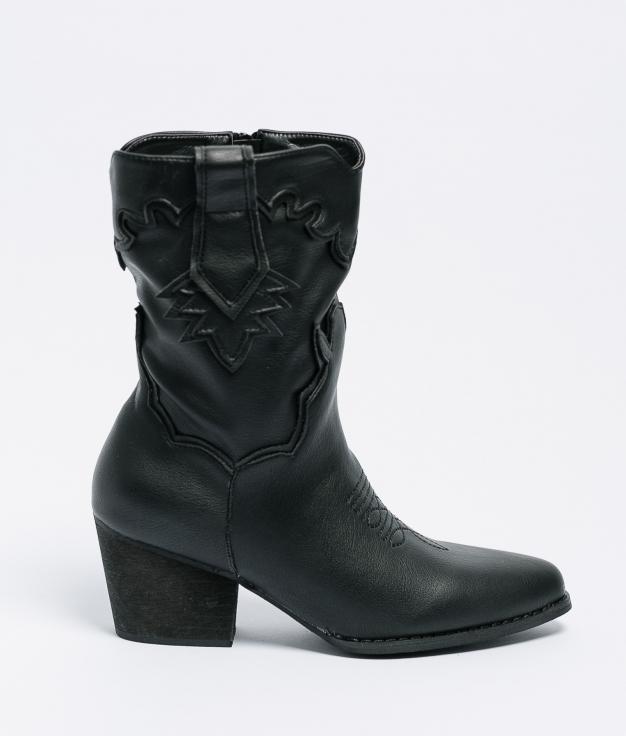 Low Boot Malia - Black Leatherette