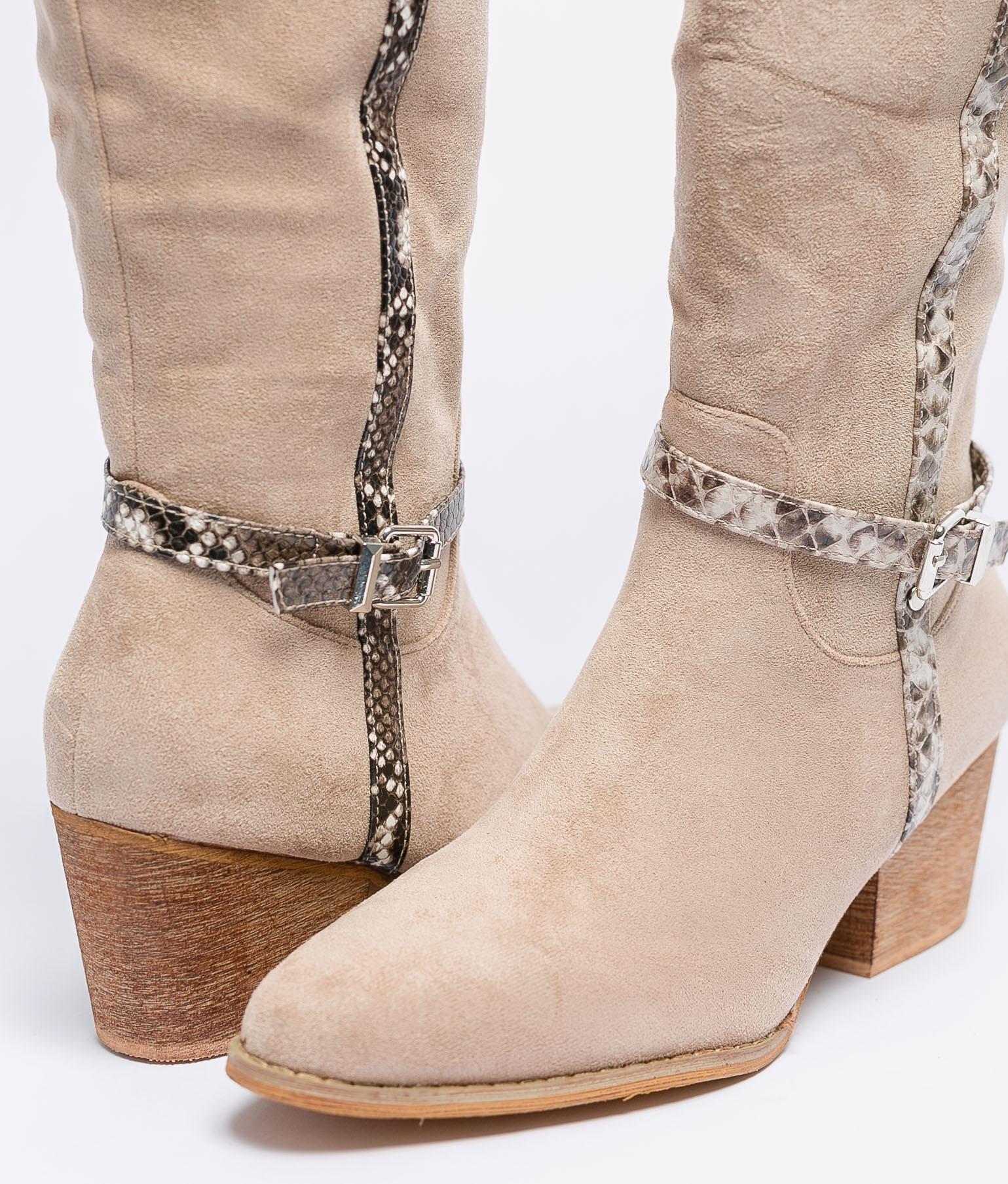 Knee-Length Boot Nolia - Khaki