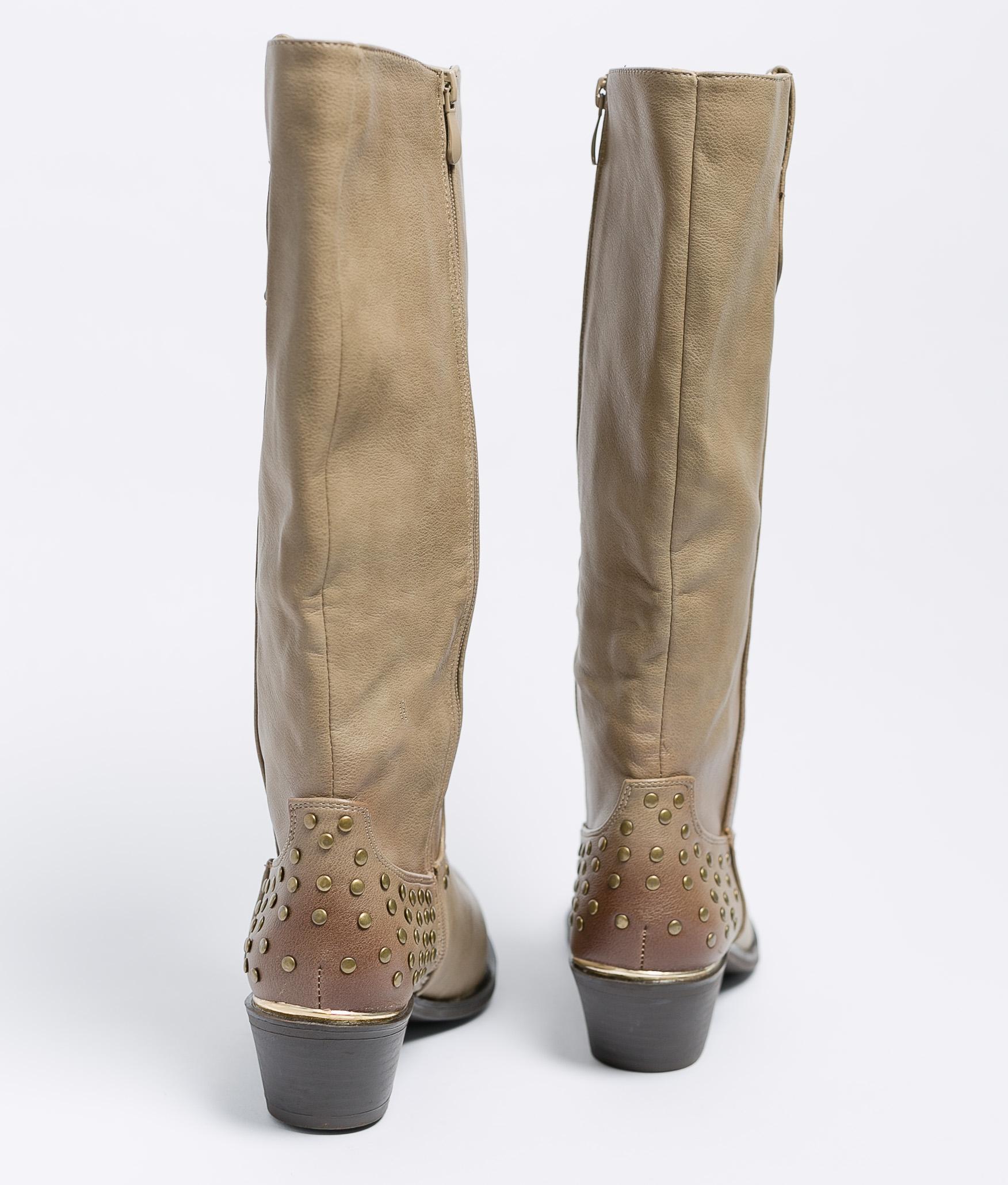 Knee-Length Boot Limoa - Khaki