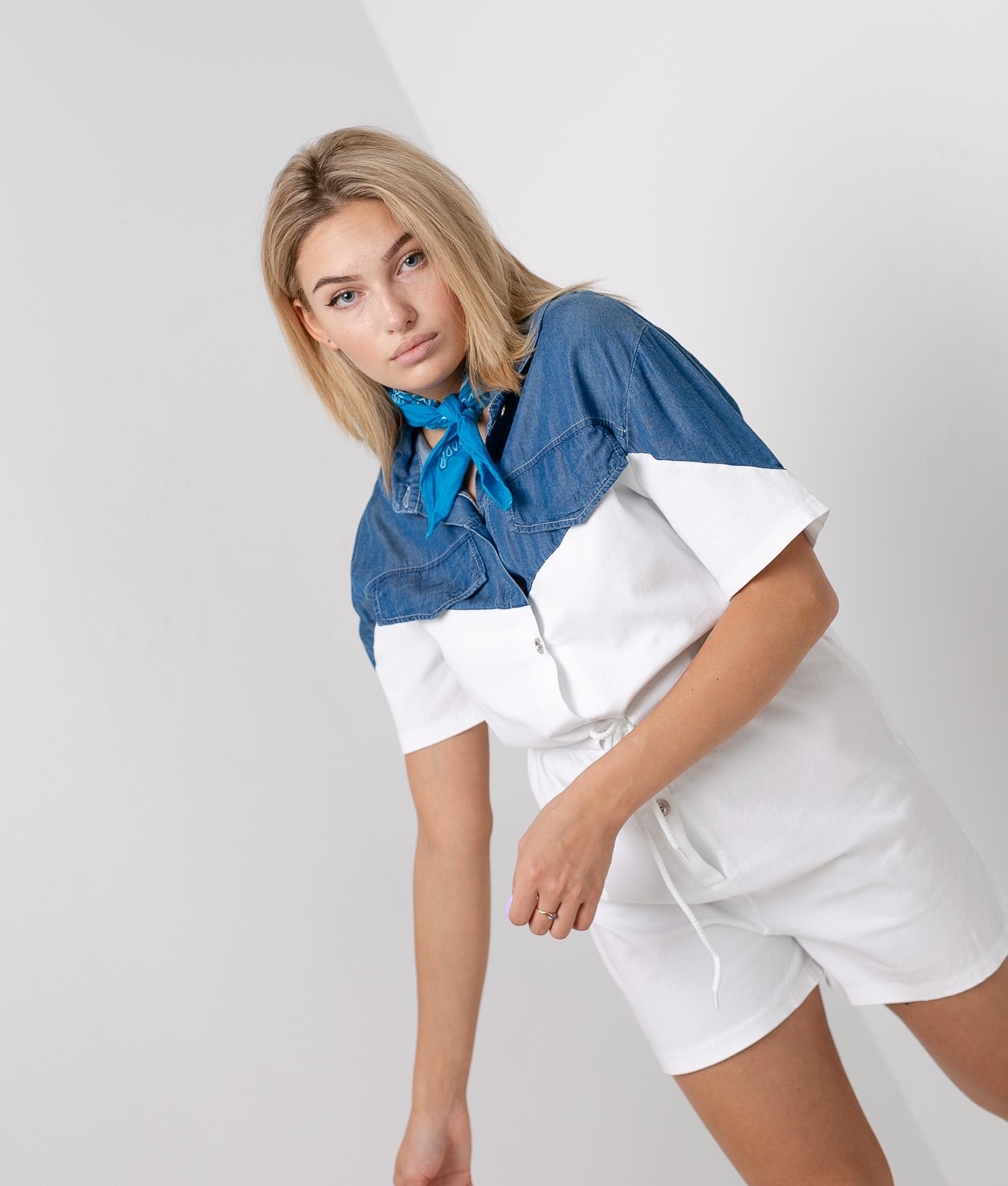 Treta jumpsuit - White/Denim