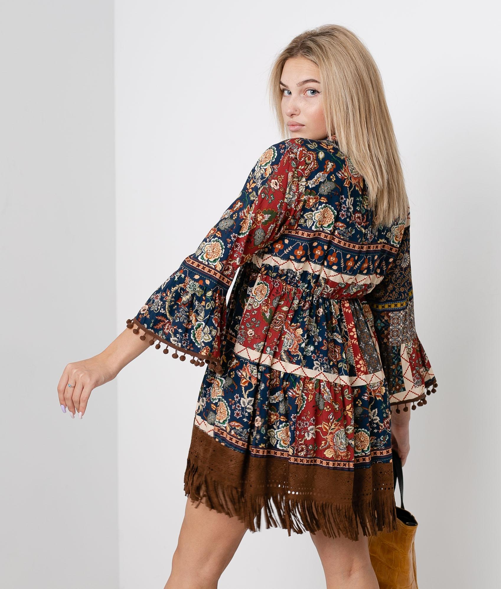 Vestido Ecel - Marrón