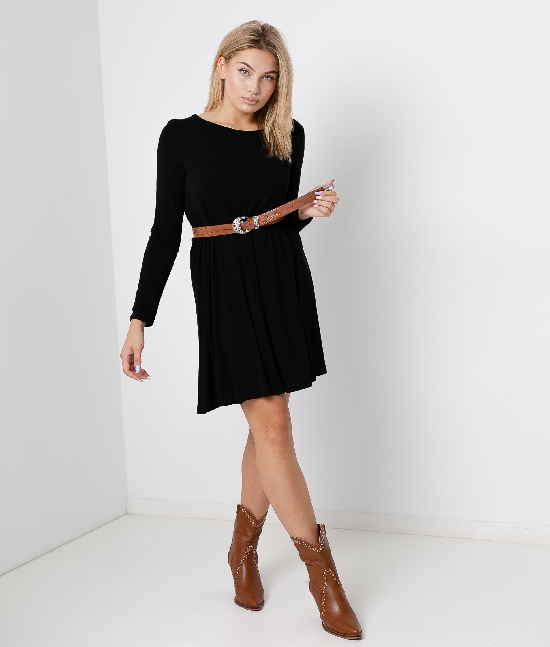 RIOLO DRESS - BLACK