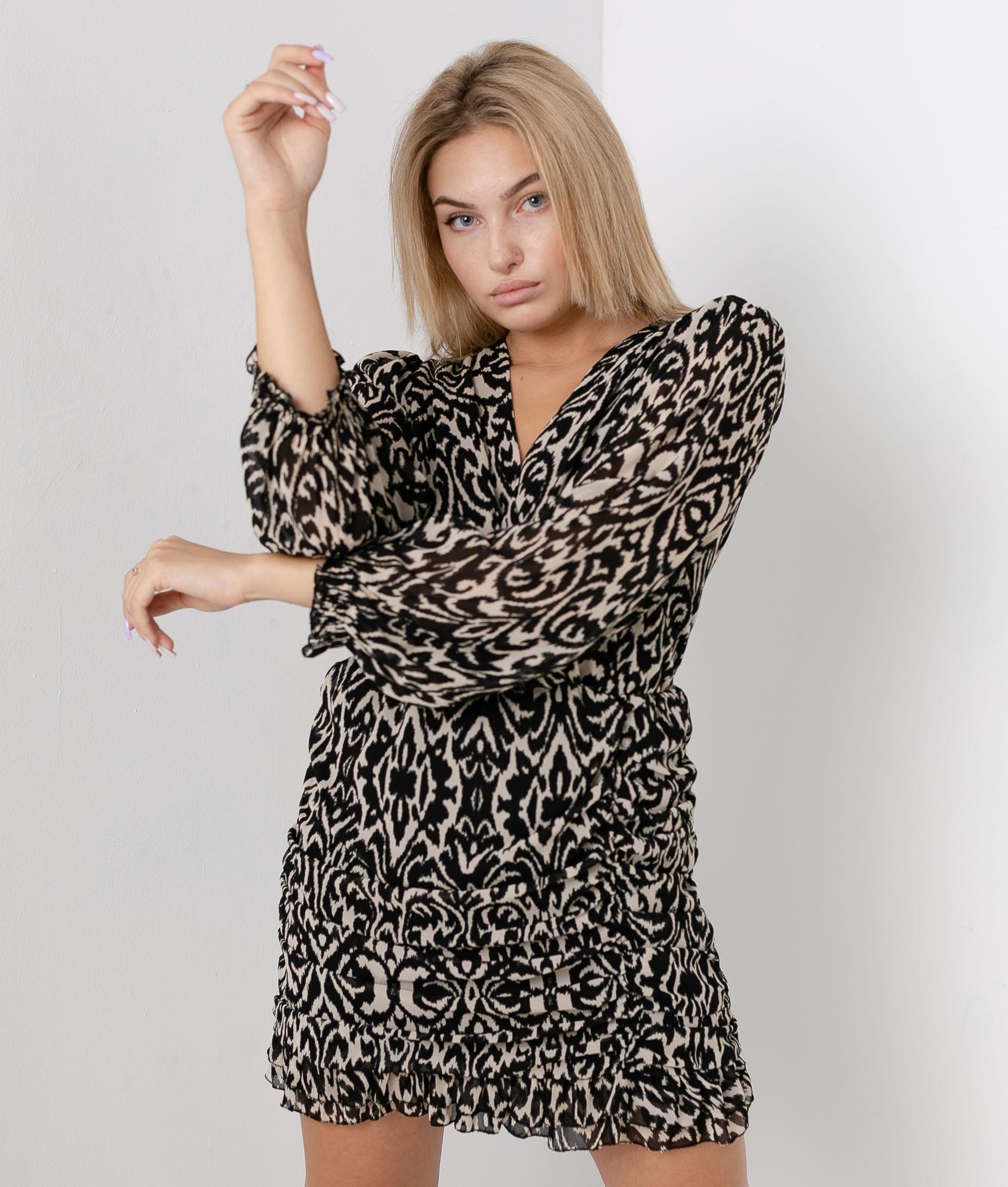 Vestido Irtemi - Beige/Negro