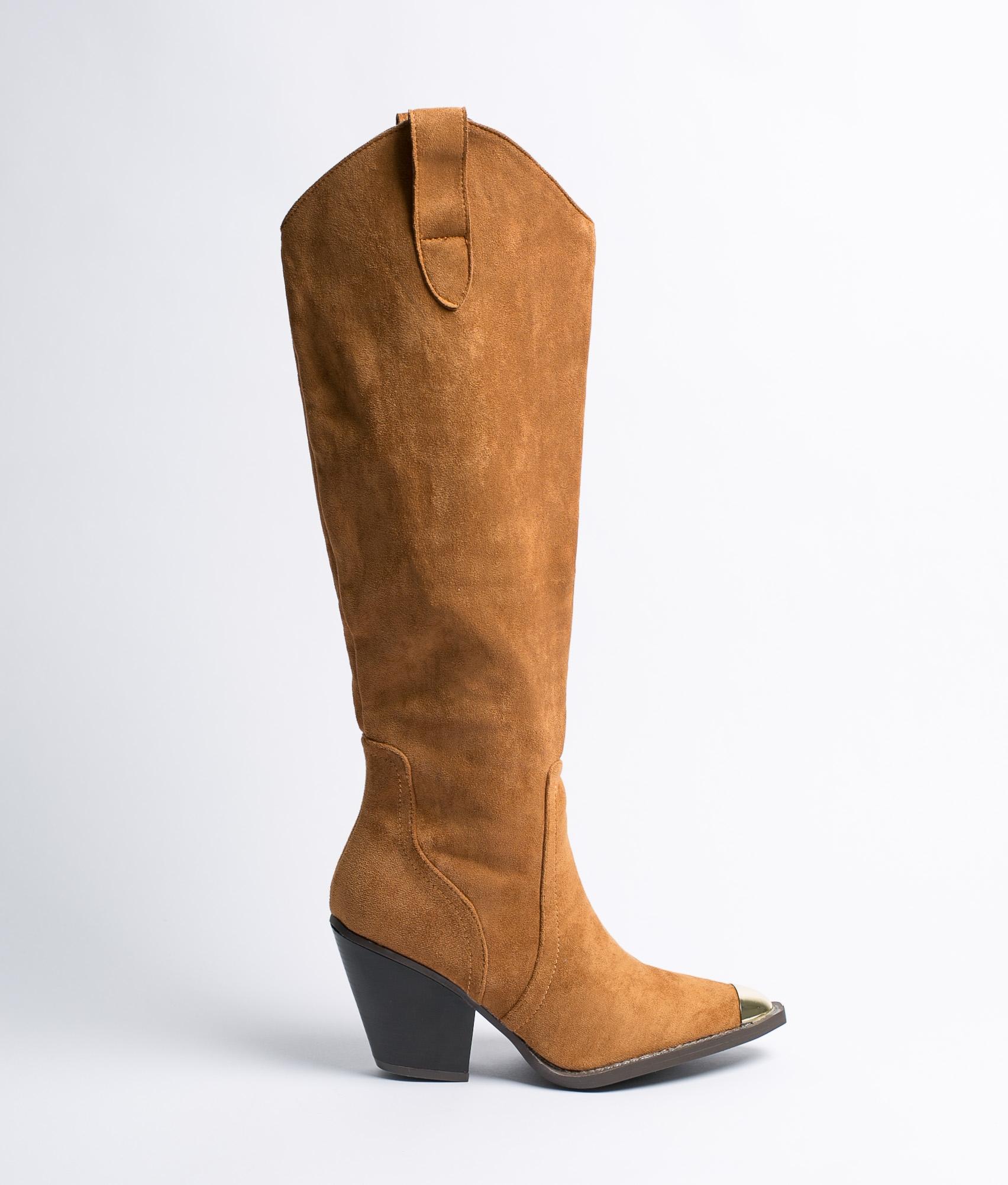Knee-Length Boot Fada - Camel