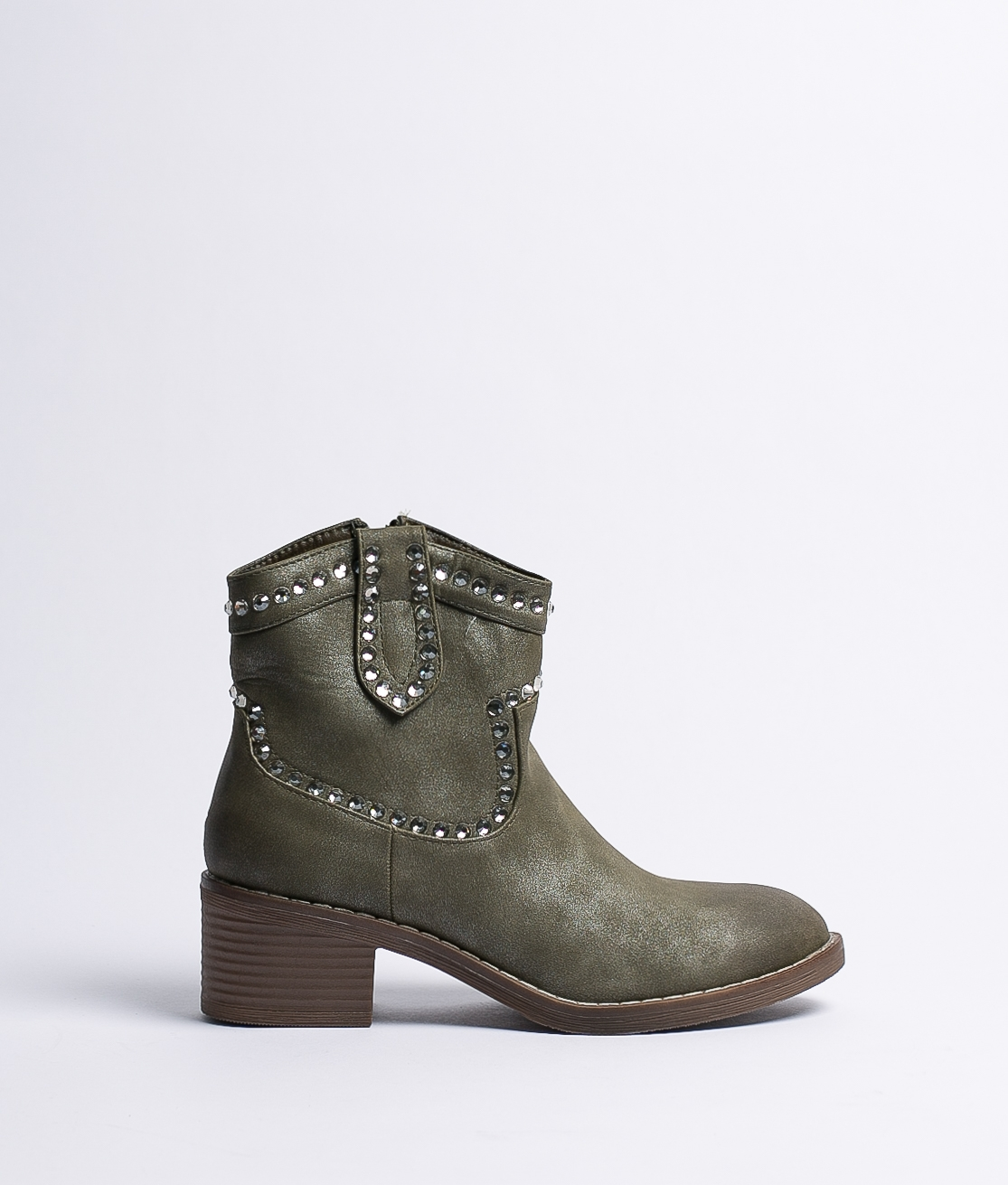 Low Boot Loria - Green Leatherette
