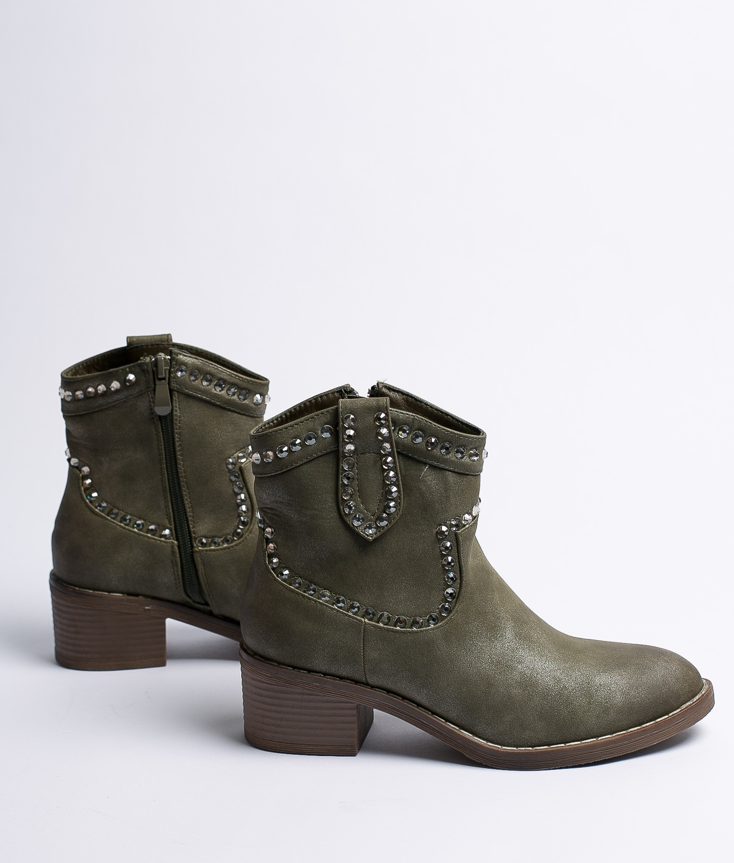 Boot Petite Loria - Vert Similicuir