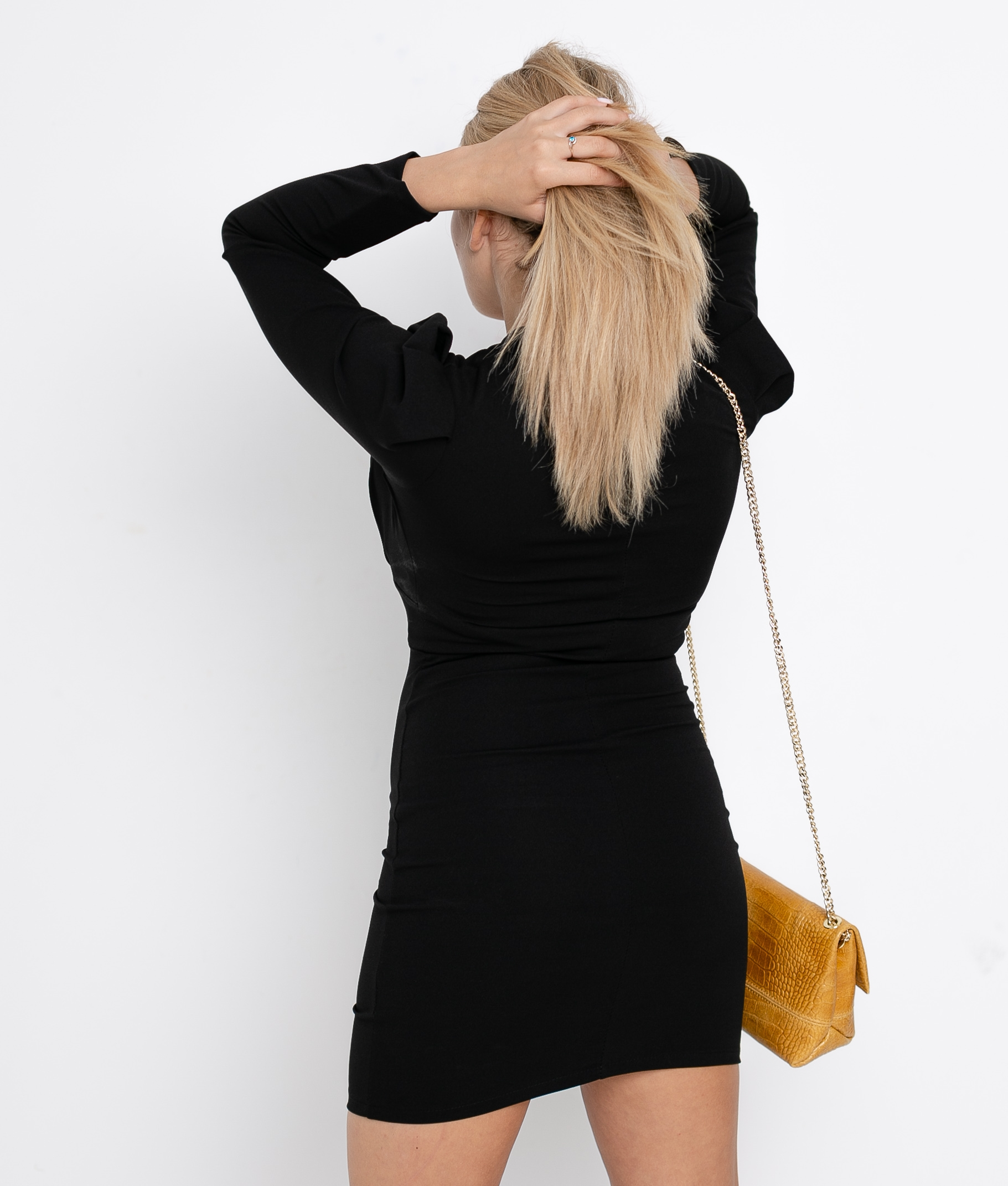 FICTION DRESS - BLACK