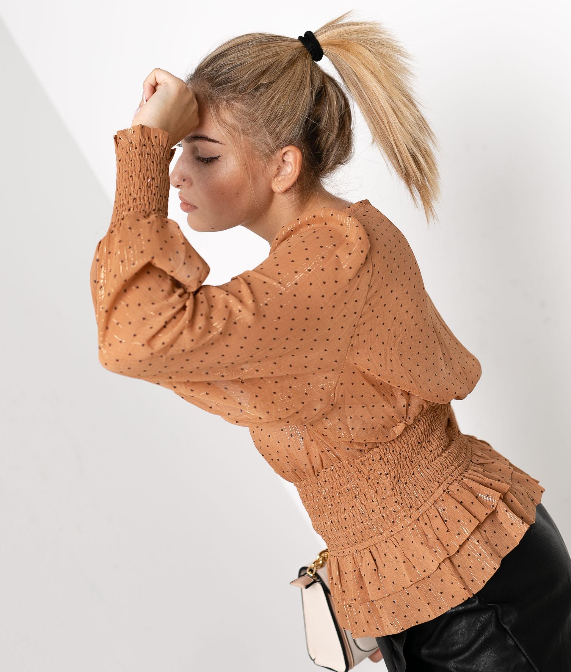 BLUSA CAROLLI - CAMEL
