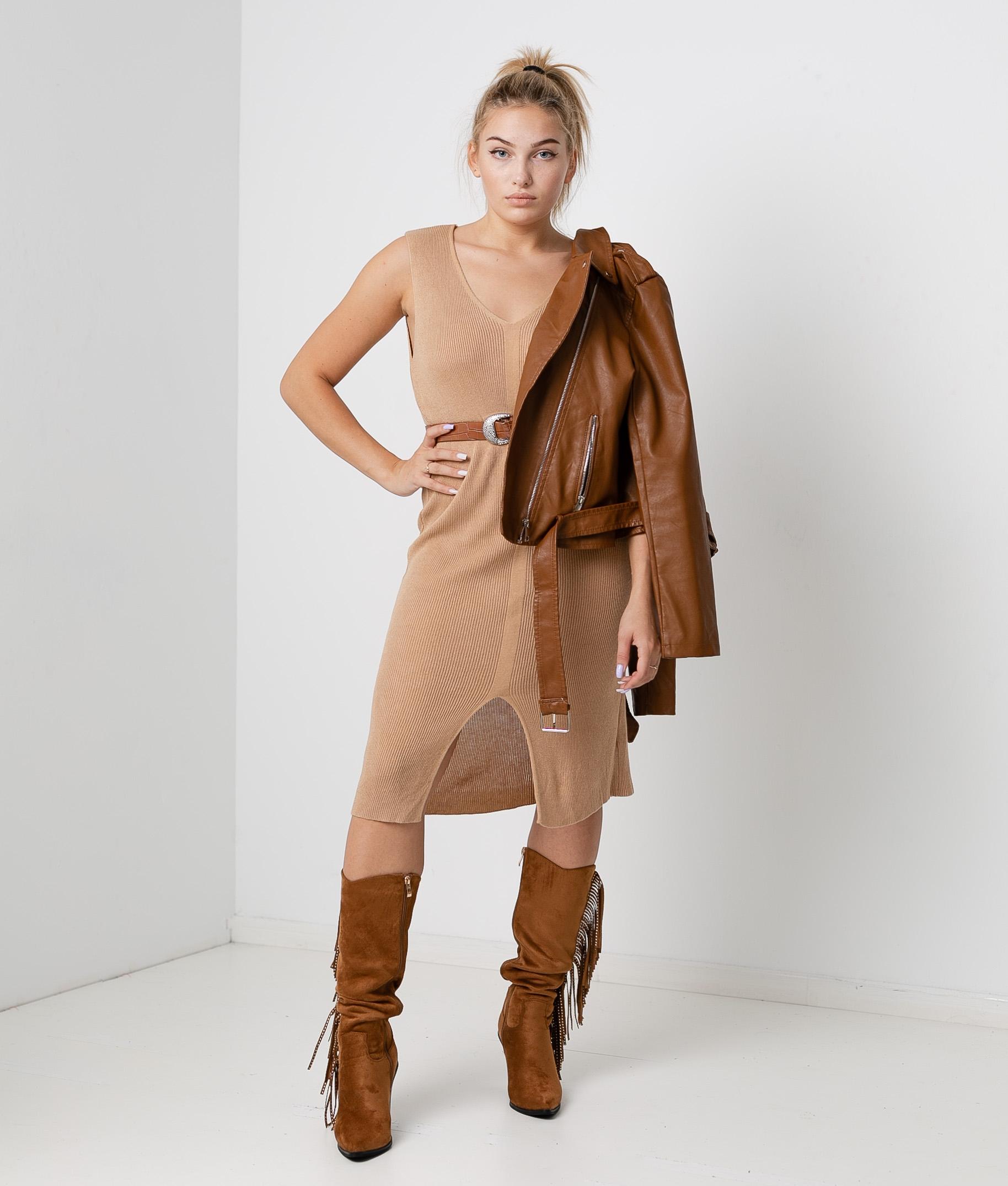 Porfido Dress - Camel
