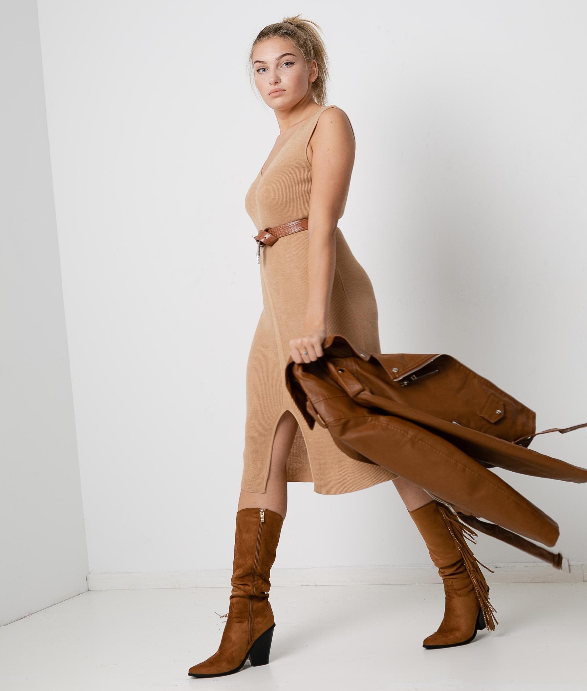 Vestido Porfido - Camelo