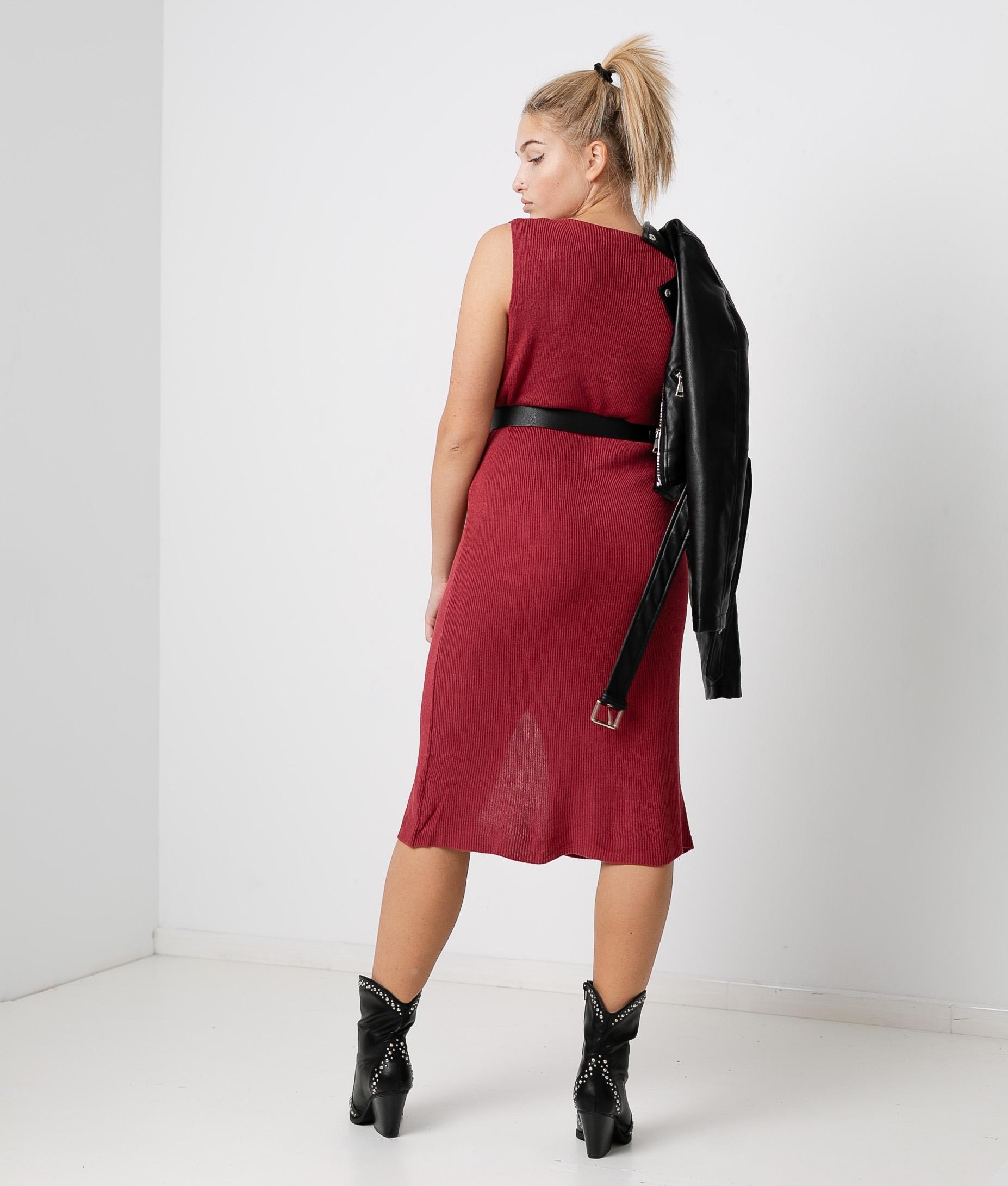 Porfido Dress - Maroon