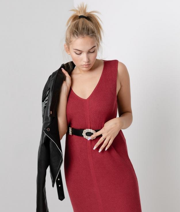 Vestido Porfido - Granate