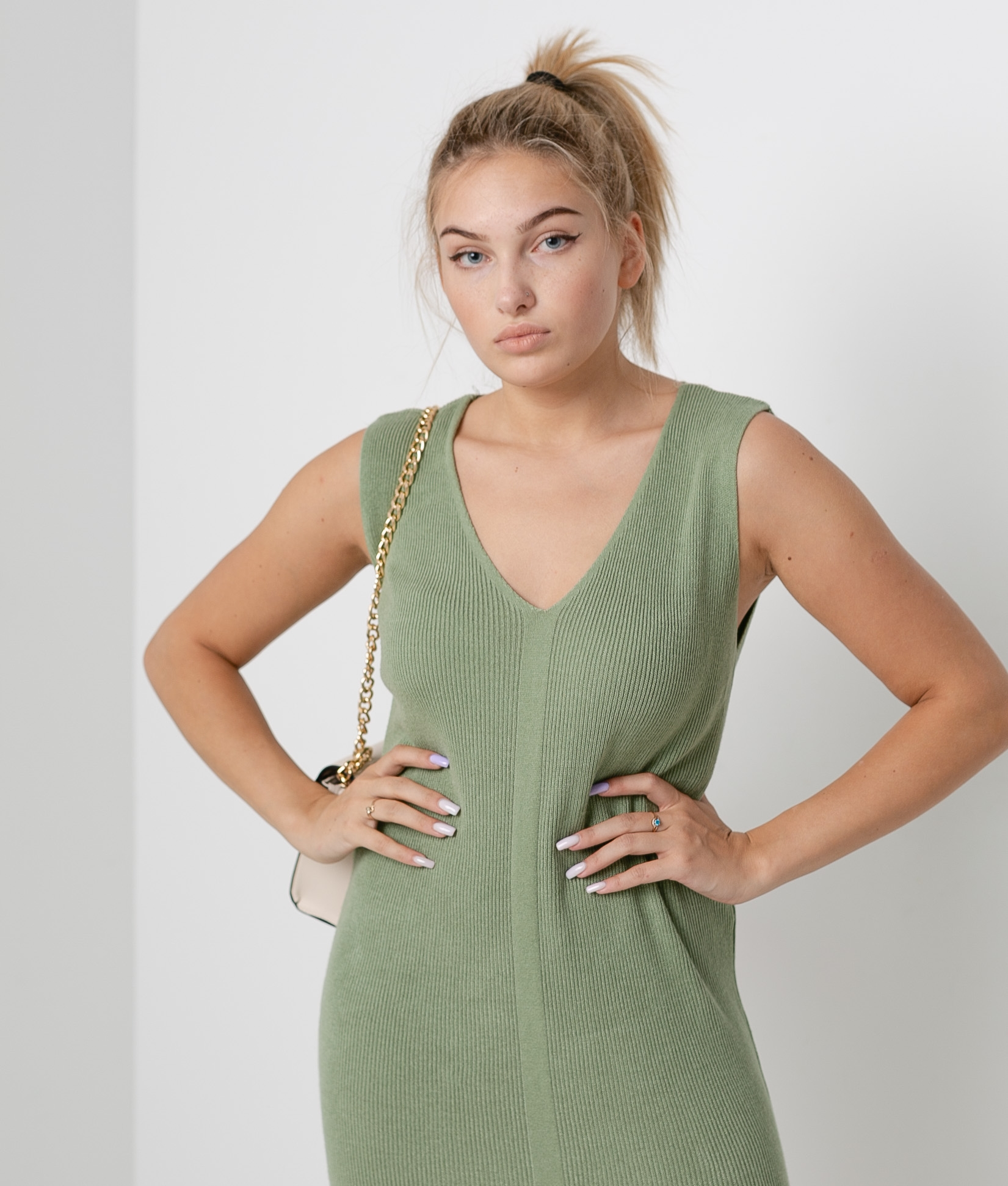 Porfido Dress - Green