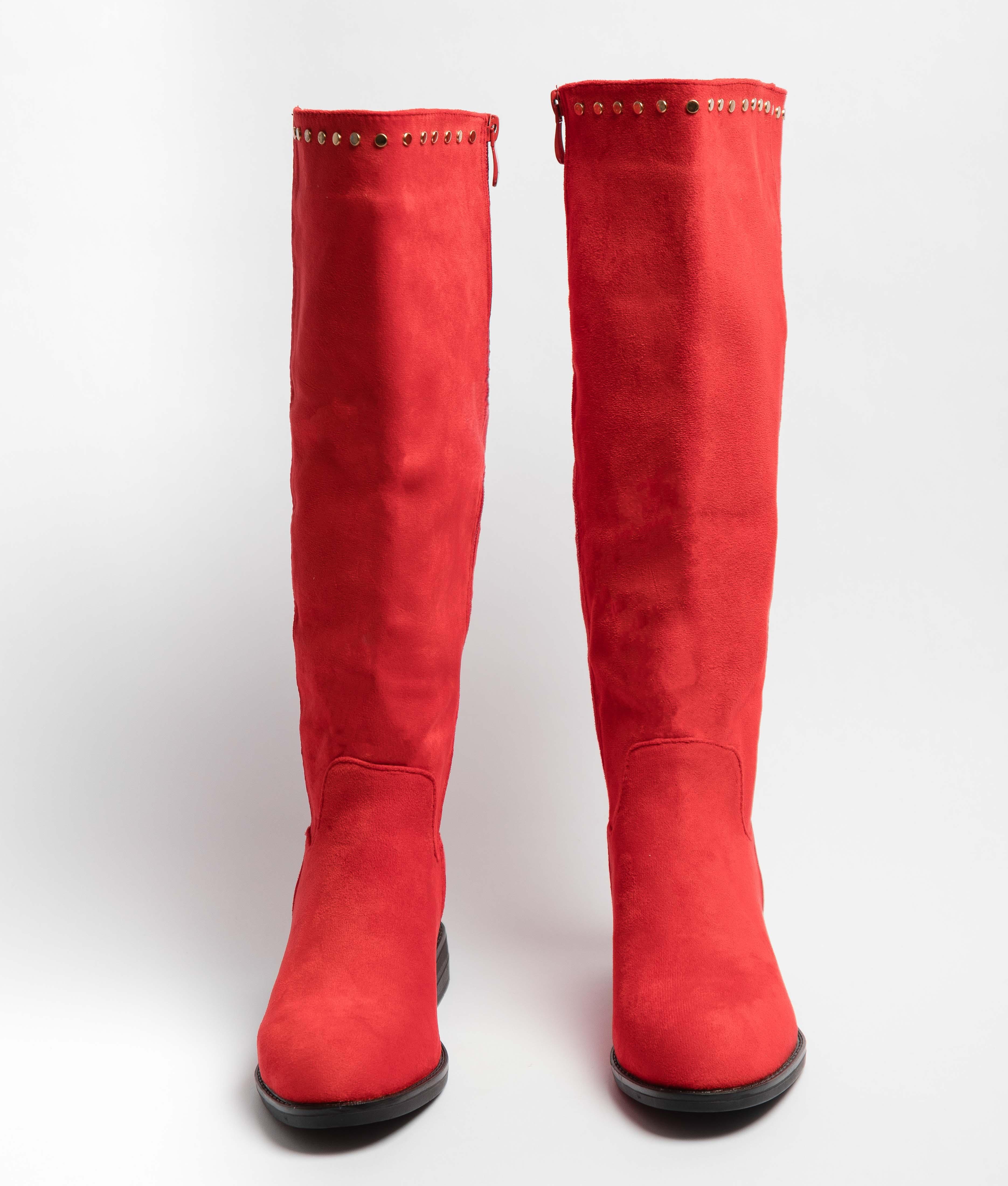 Bota Alta Kady - Vermelho