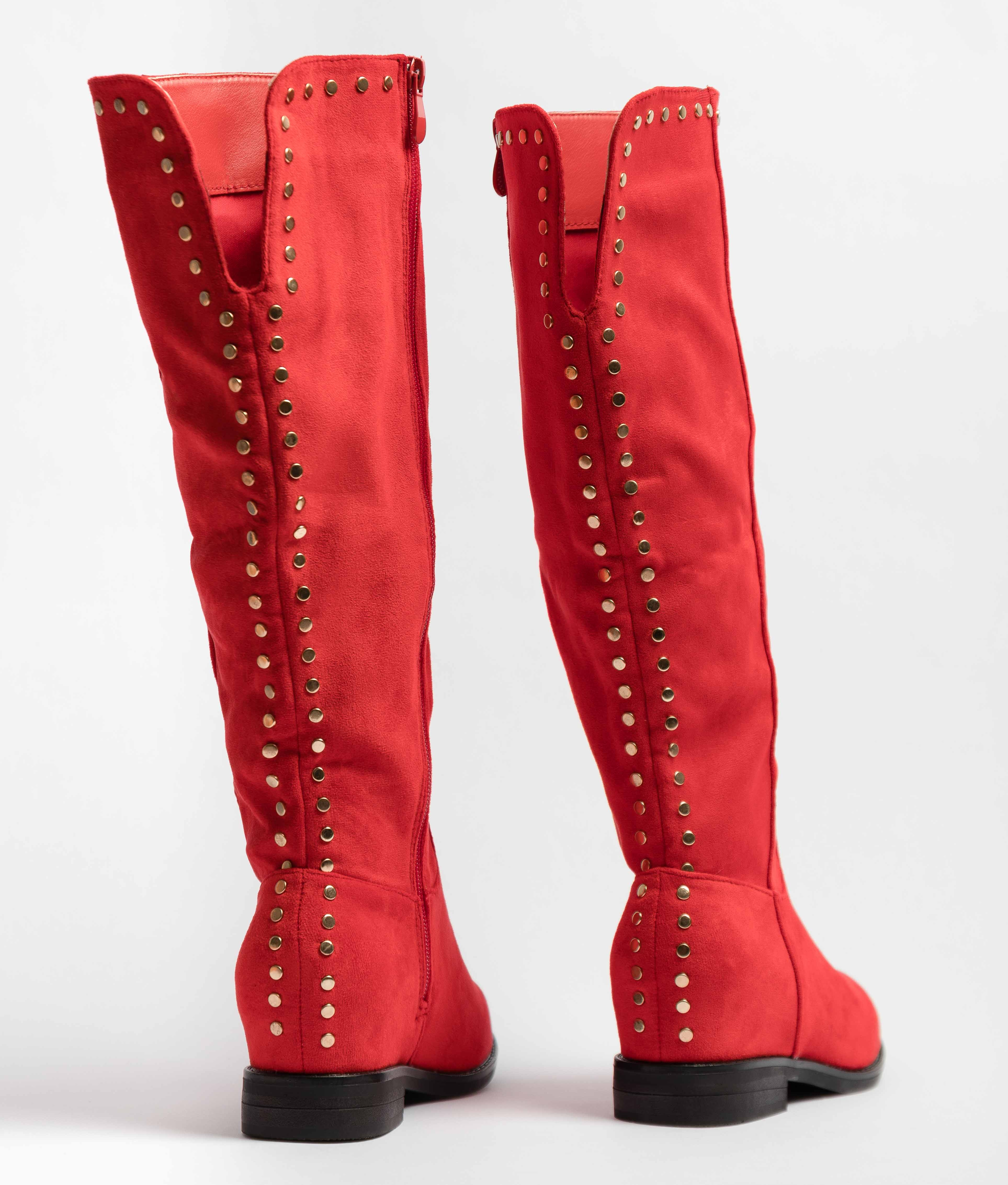 Knee-Length Boot Kady - Red
