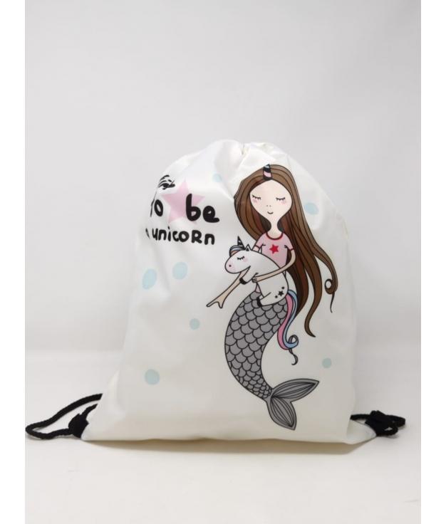 mermaid backpack - beige