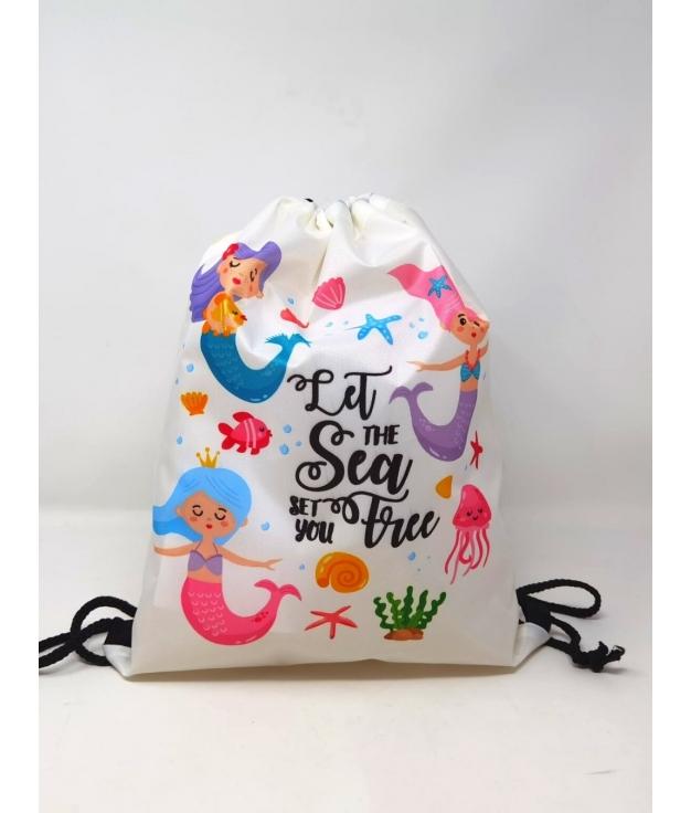mermaid backpack m- beige