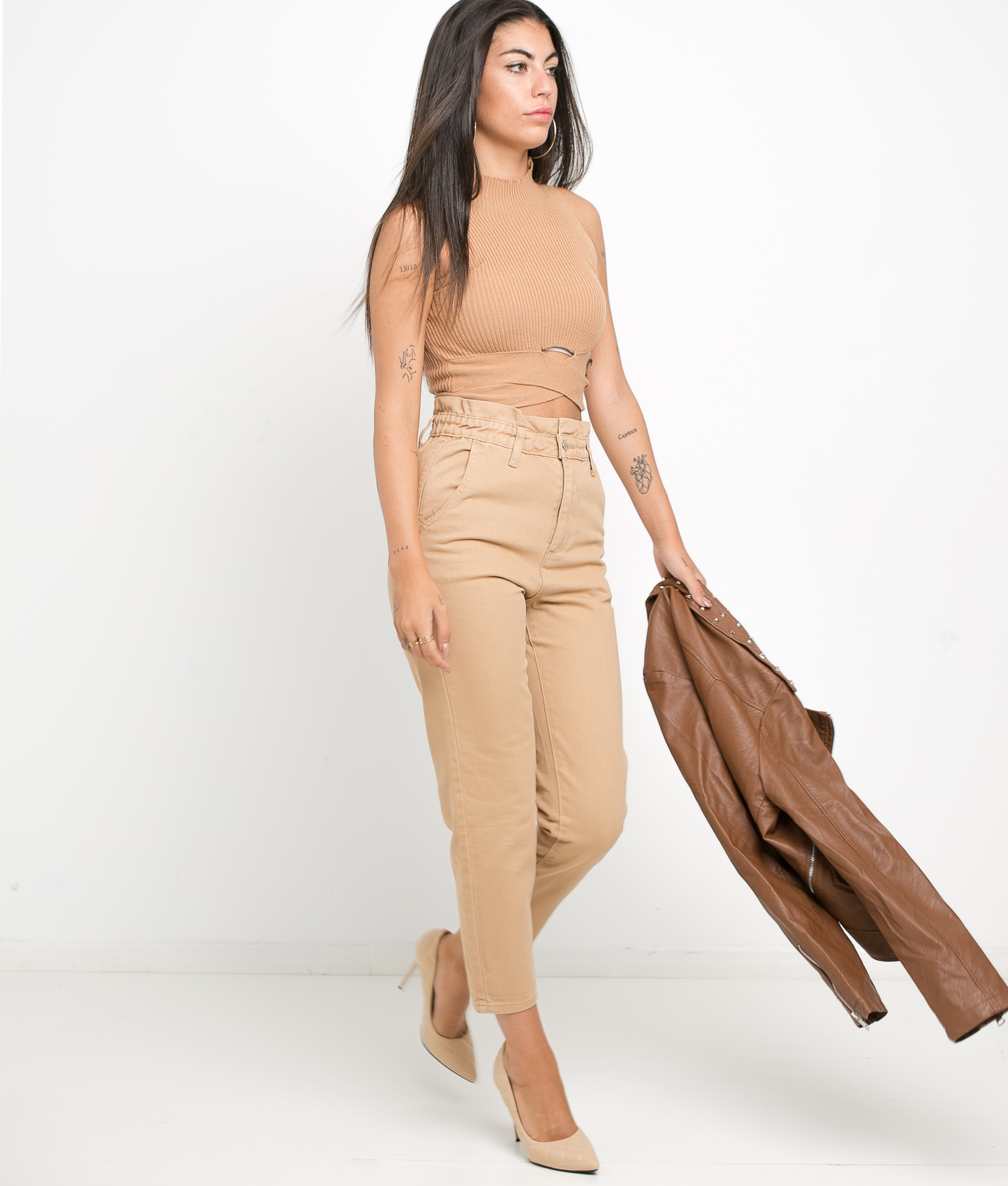 CLEVE TROUSERS - BEIGE