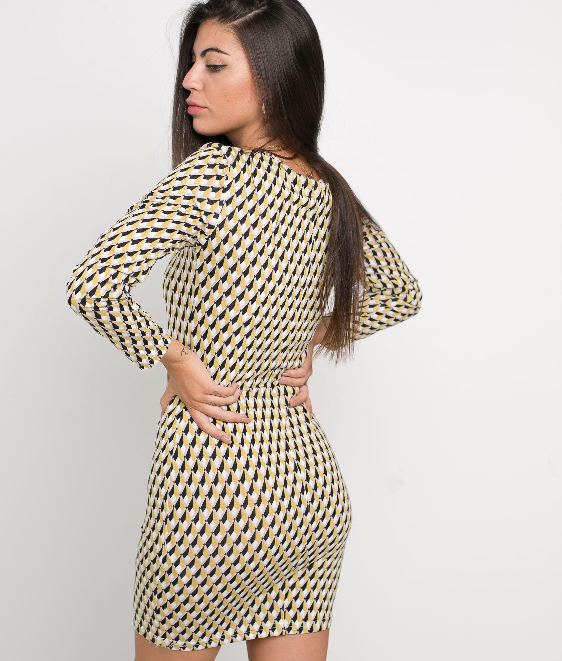 DRESS TRILA - YELLOW