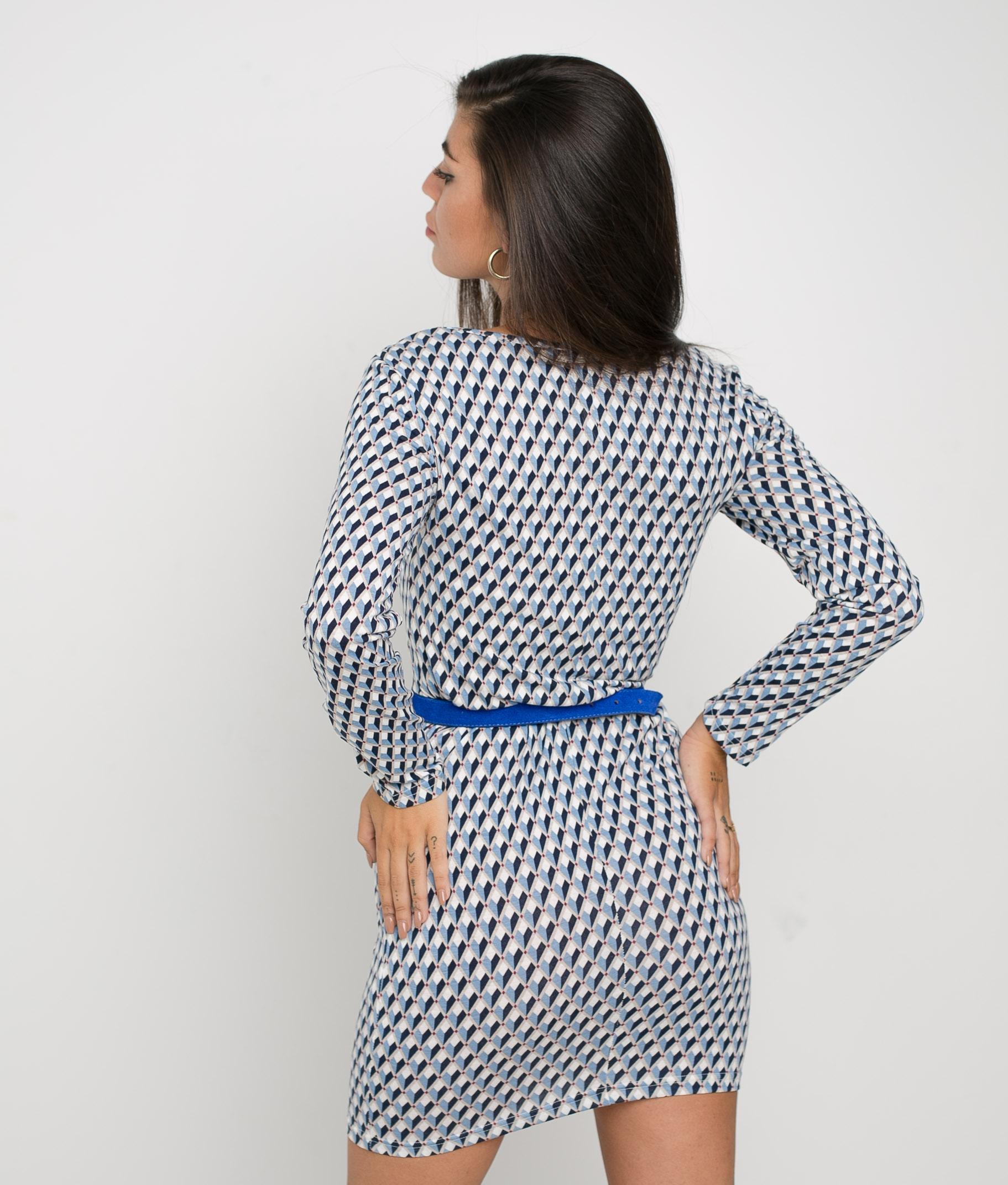 DRESS TRILA - BLUE