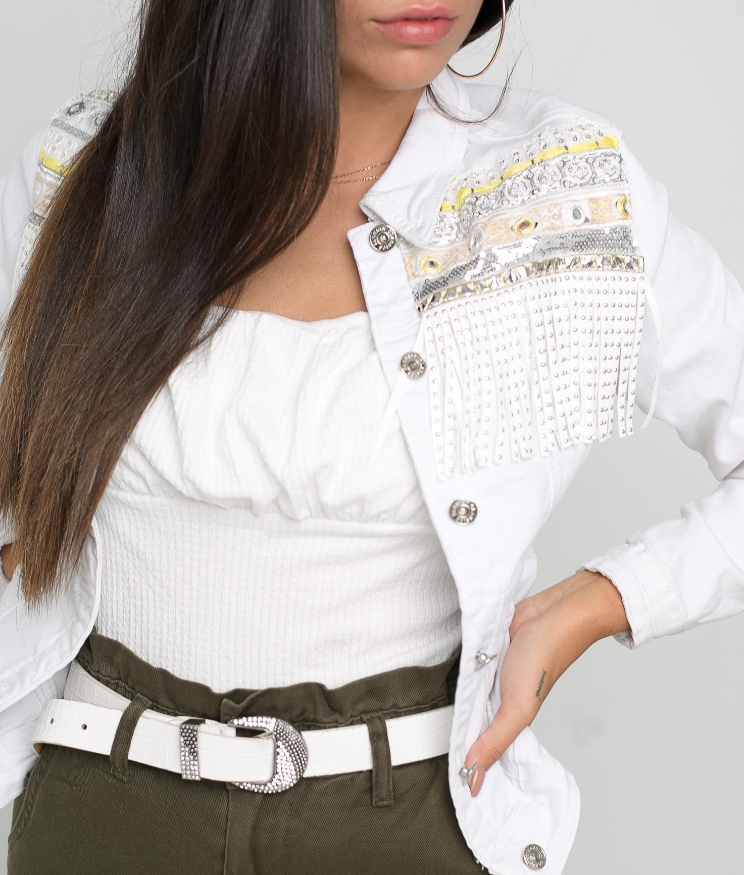 Munagu jacket - White