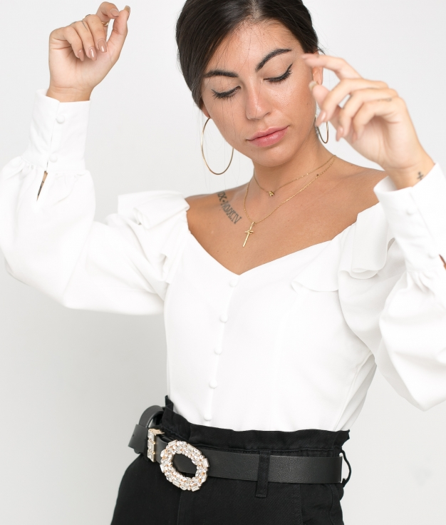 Top Bolony - Blanc