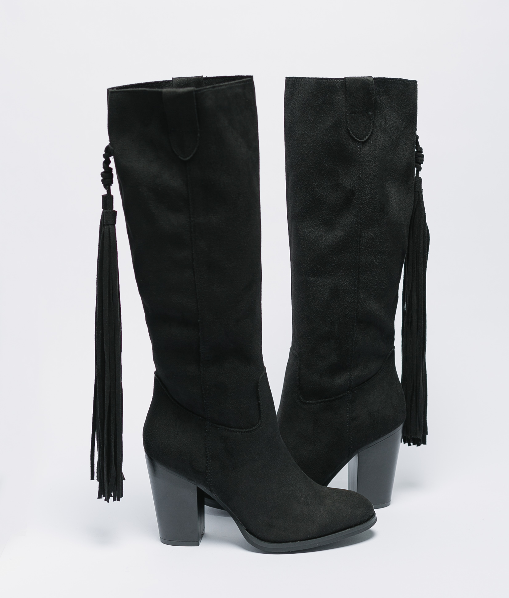 Mioma Knee-Length Boot - Black