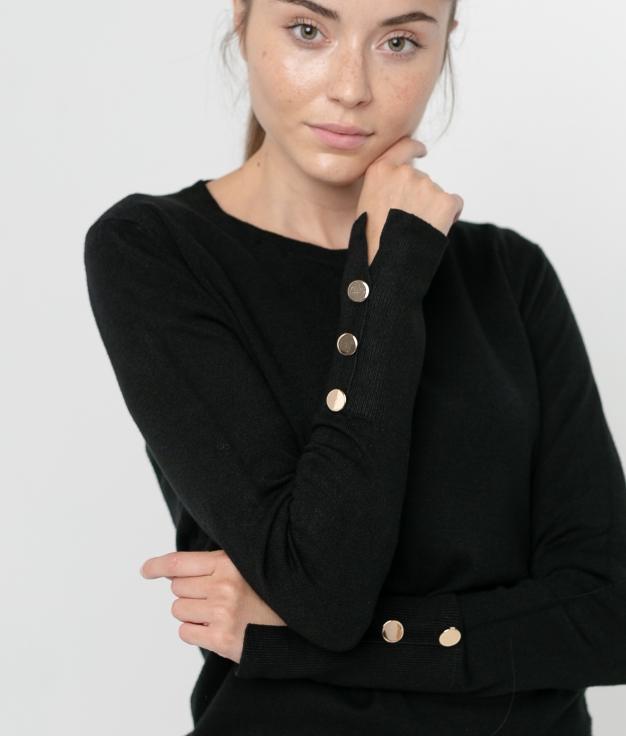 MAGLIA KALINA - NERO