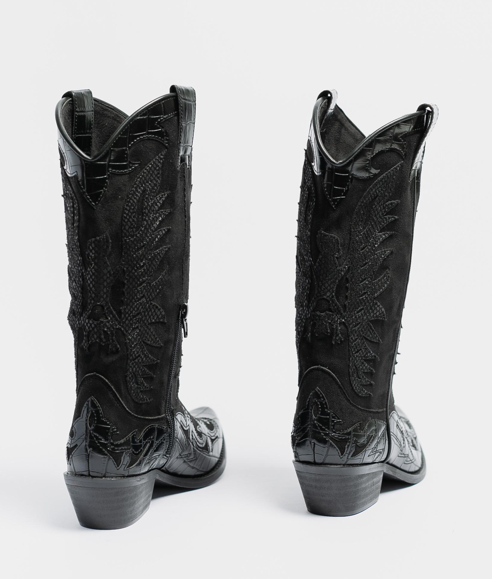 Karisa Knee-Length Boot - Black