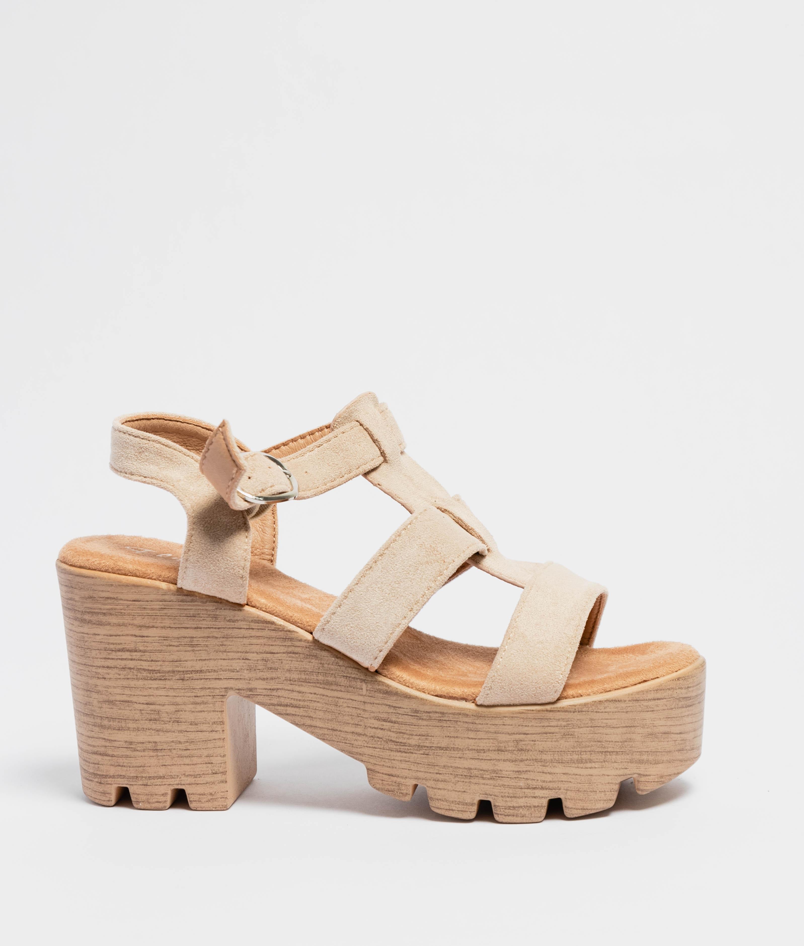 Sandale Talon Nevas - Beige