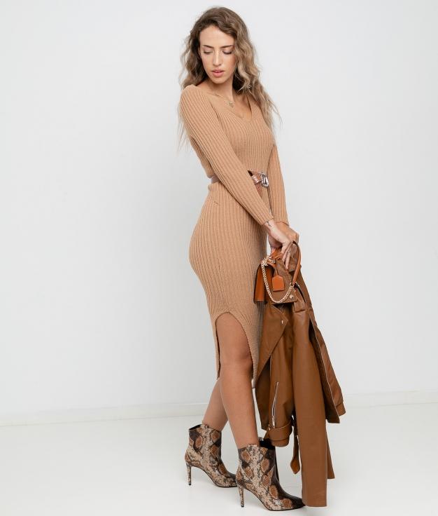 Vestido Artabi - Camel