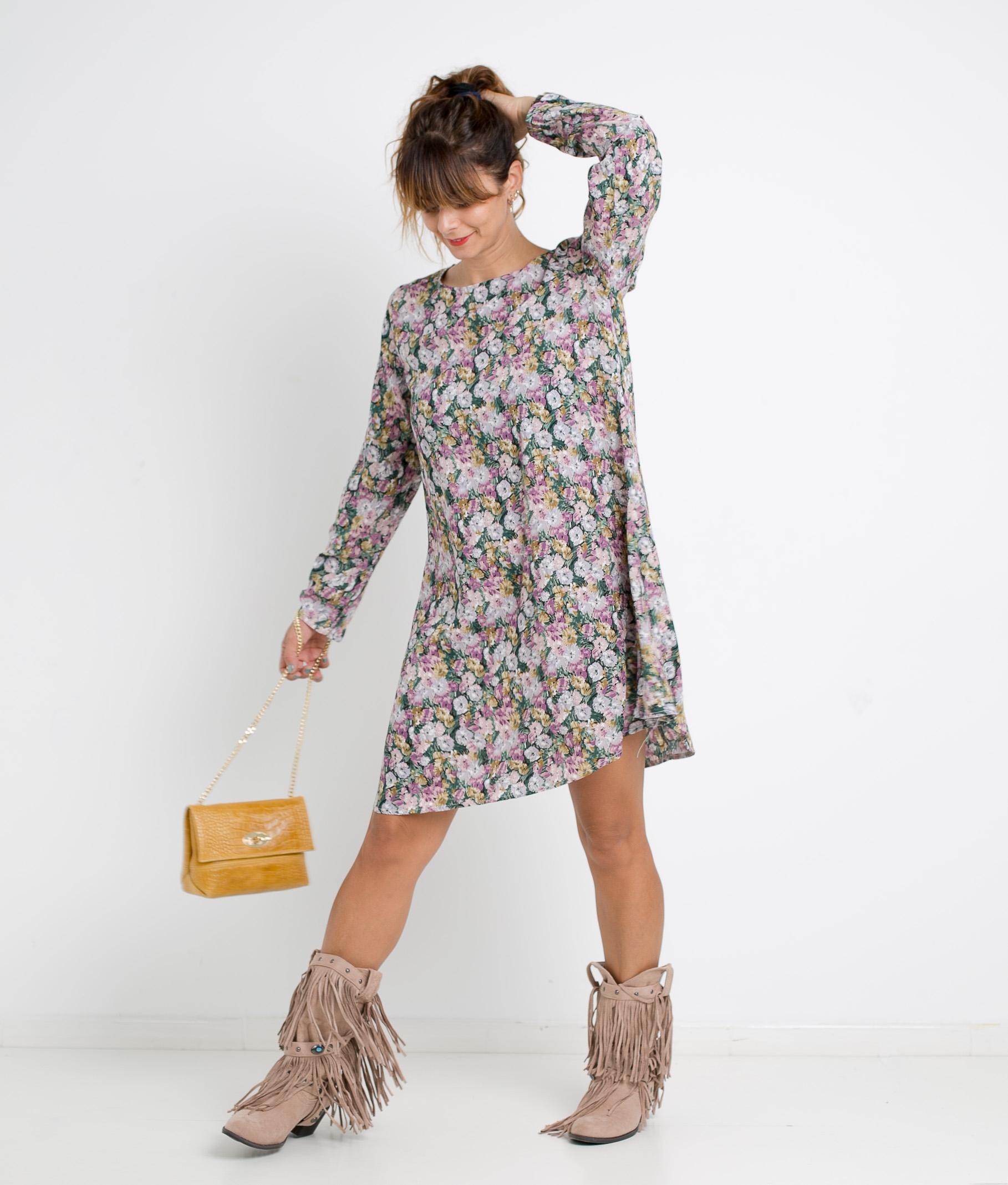 DRESS FLINA - PURPLE