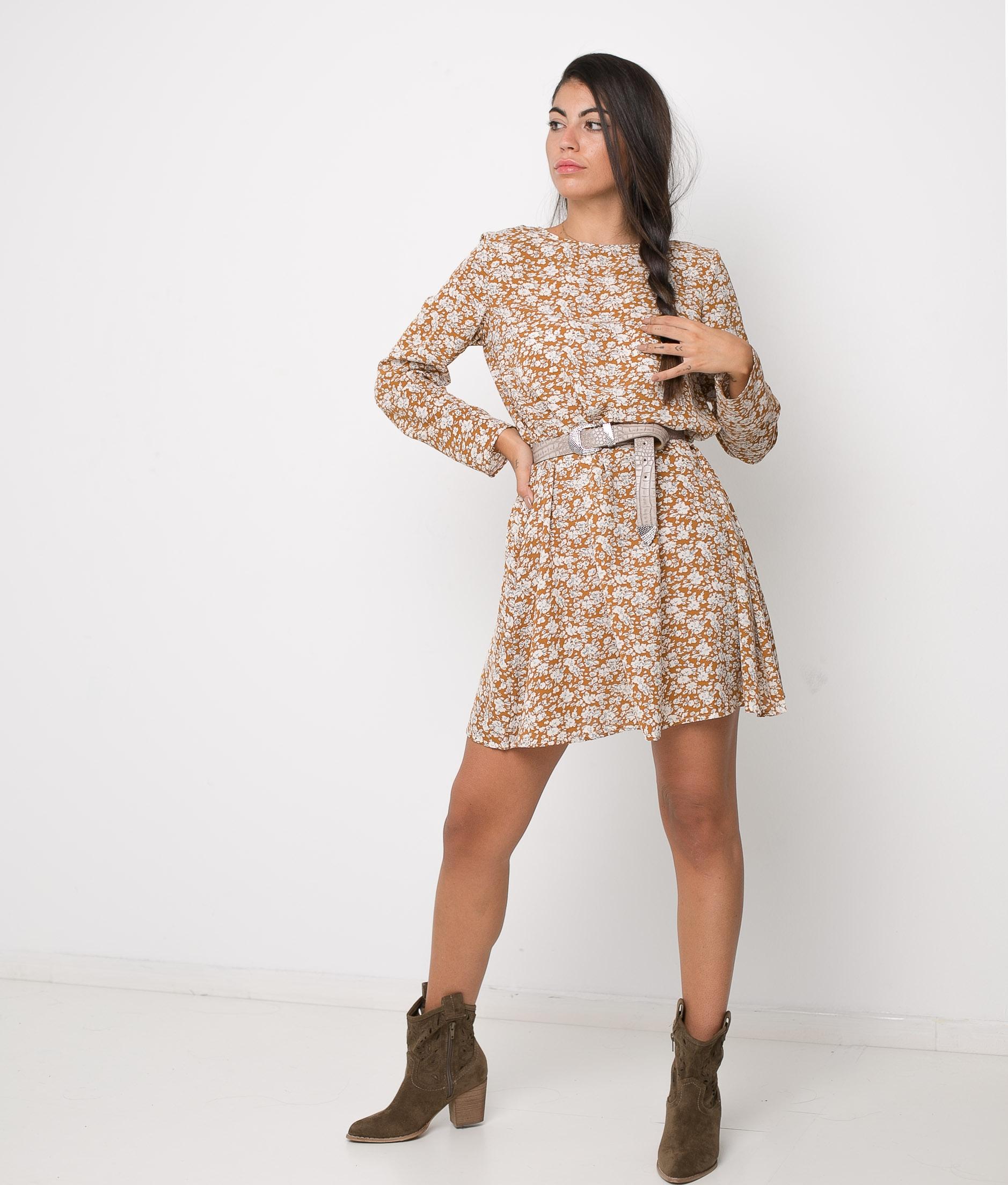 DRESS IRISA - MUSTARD
