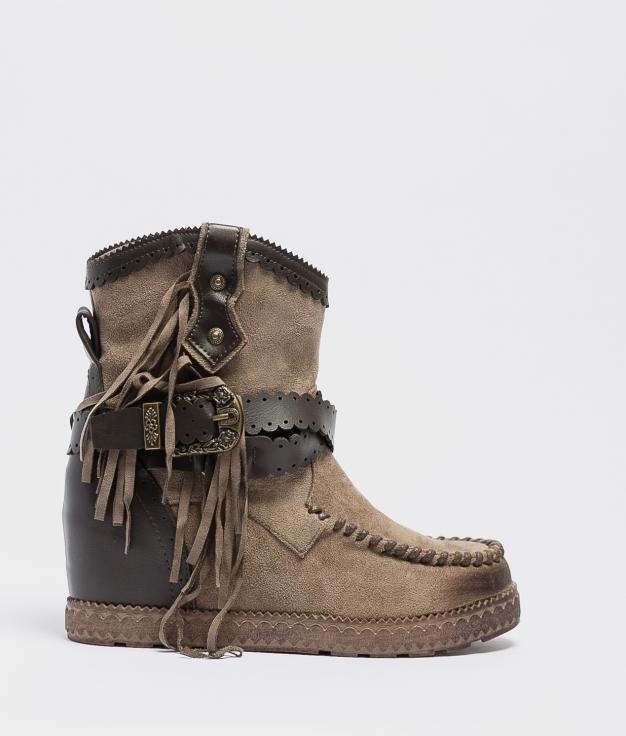 Cirine Indianini Low Boot - Khaki
